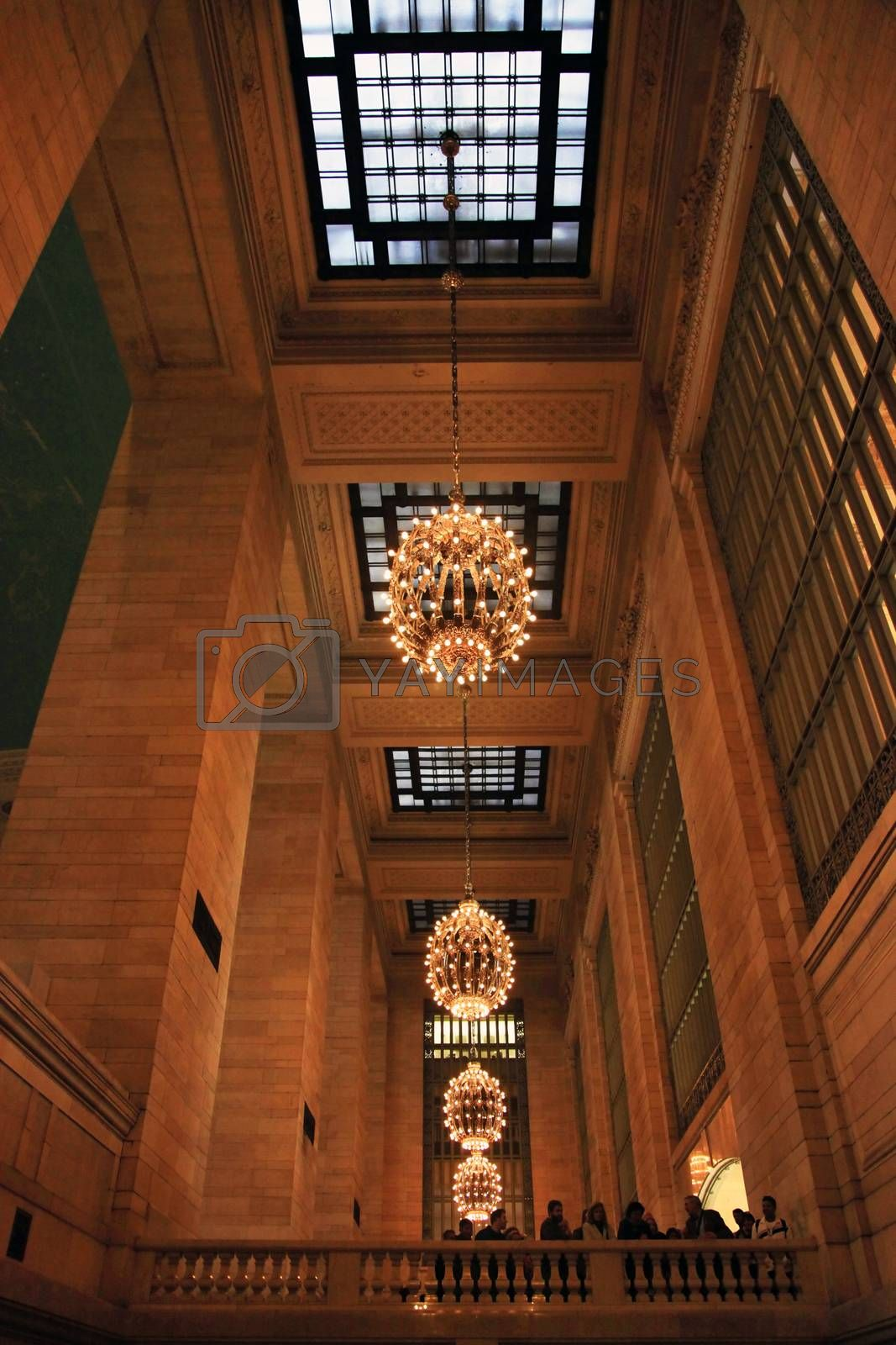 New York , USA - October, 12, 2012: Interior of Grand Central Station in New York. The terminal is the largest train station in the world by number of platforms having 44 in New York 12 October, 2012