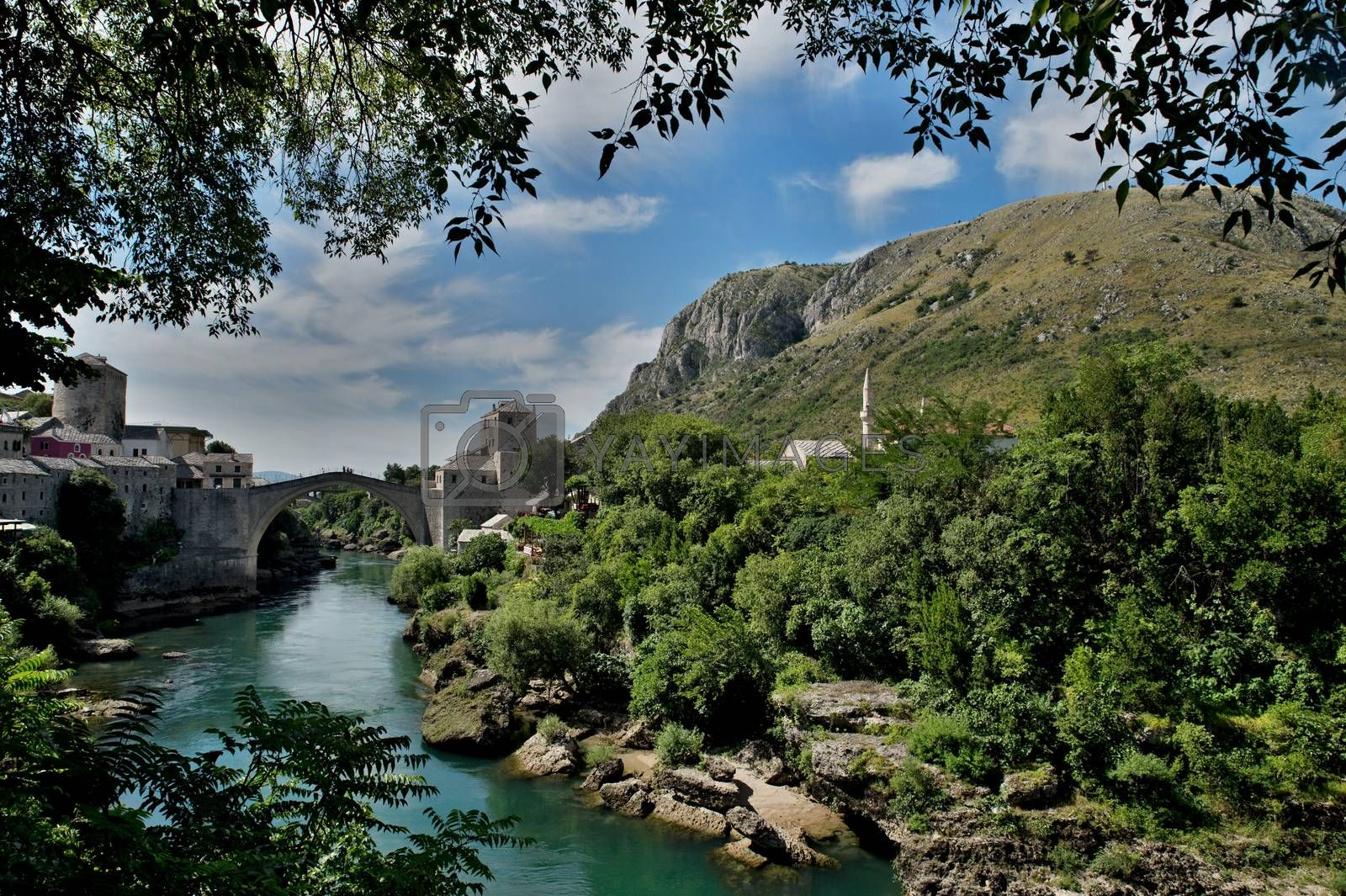 nice old bridge in Mostar - protected by UNESCO