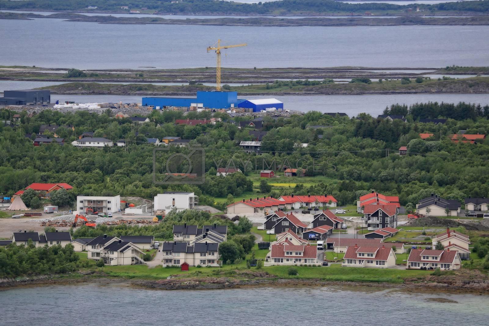 Utsikt fra Urstabben nær Brønnøysund
