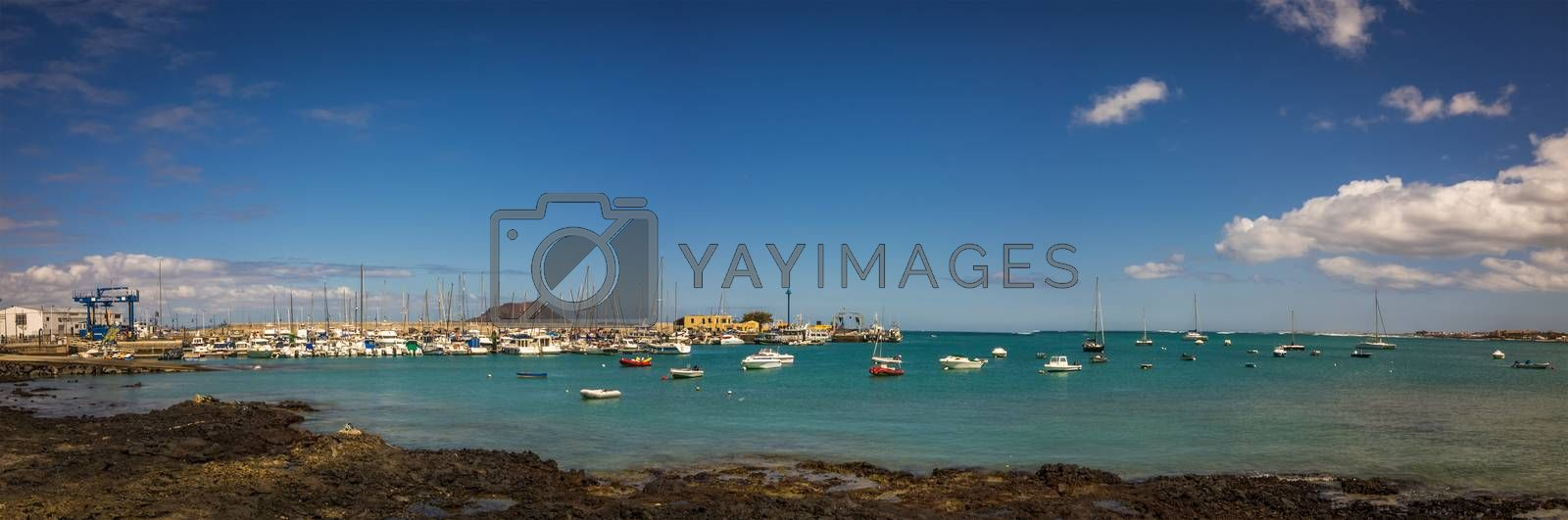 Royalty free image of Corralejo harbour panorama by pawopa3336