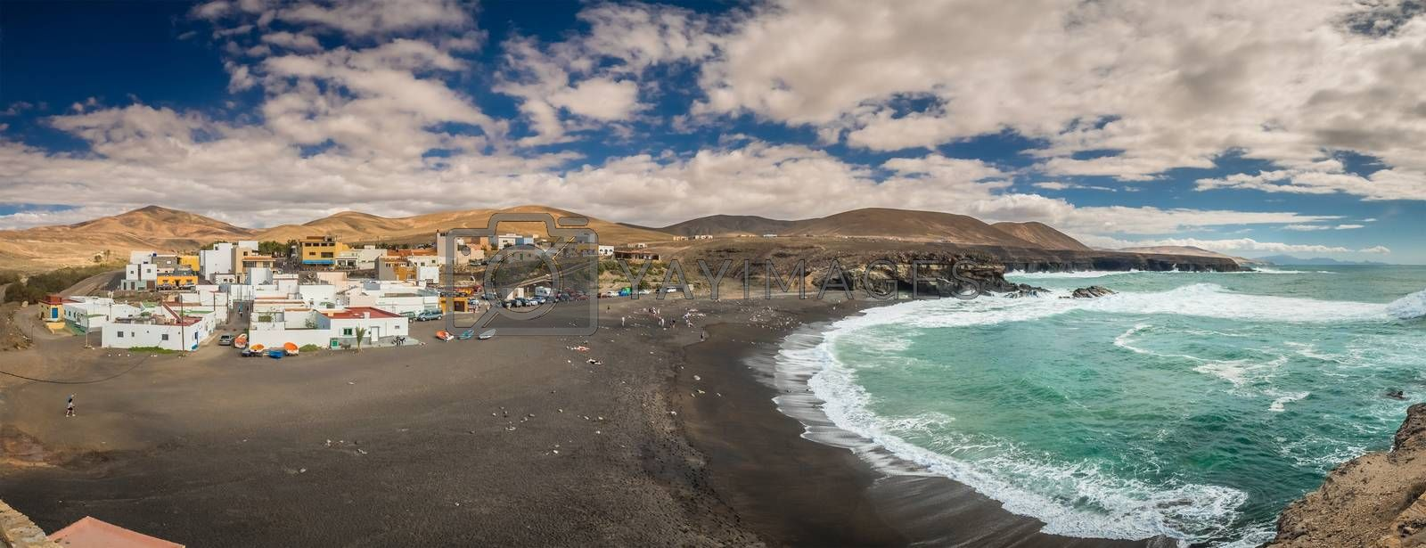 Ajuy - popular fishing village on theFuerteventura west coast, Parque Rural de Betancuria in Fuerteventura, Canary Island, Spain. Picture taken 13 April 2016.