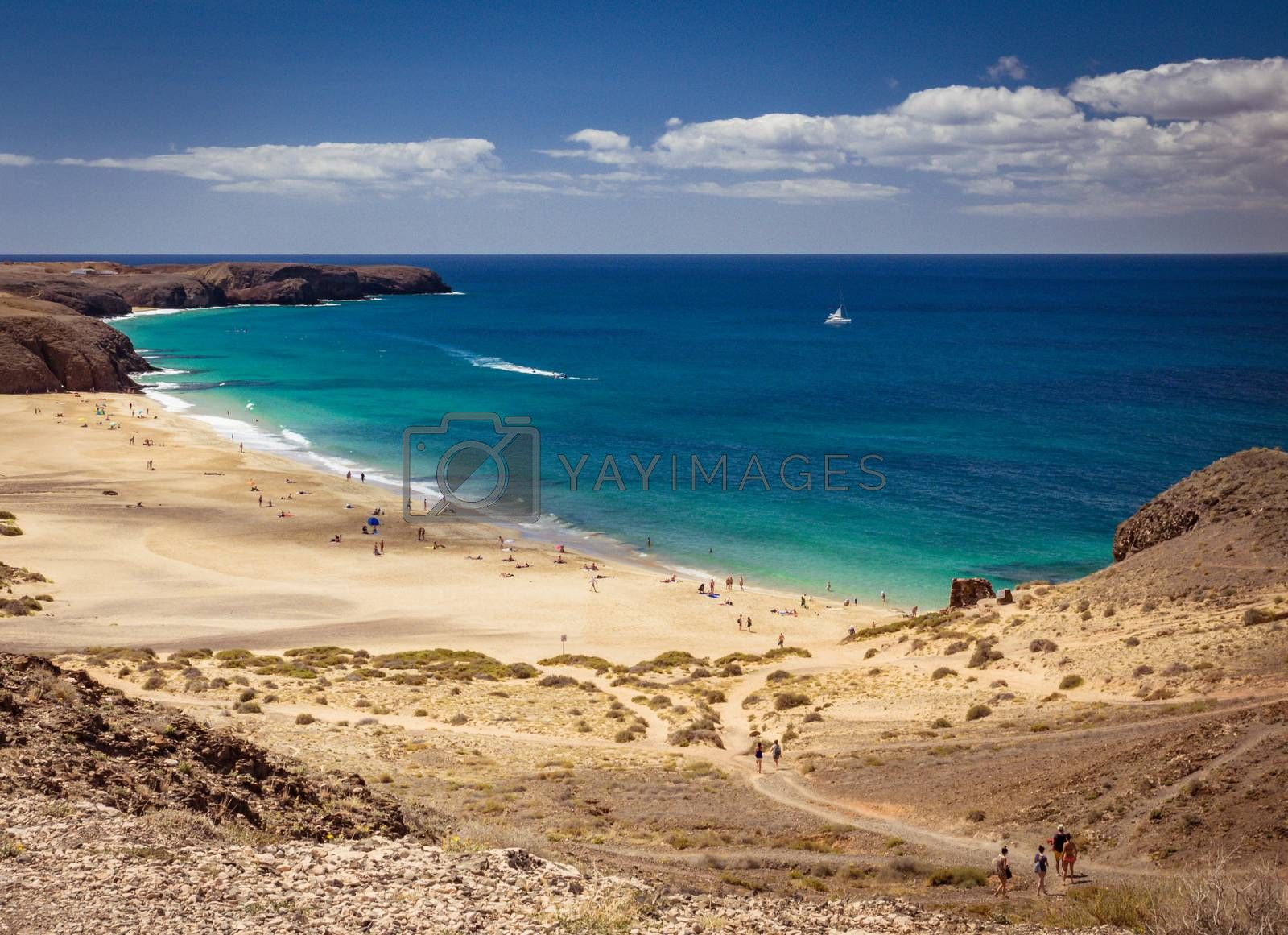 Royalty free image of Playa Mujeres in Lanzarote by pawopa3336