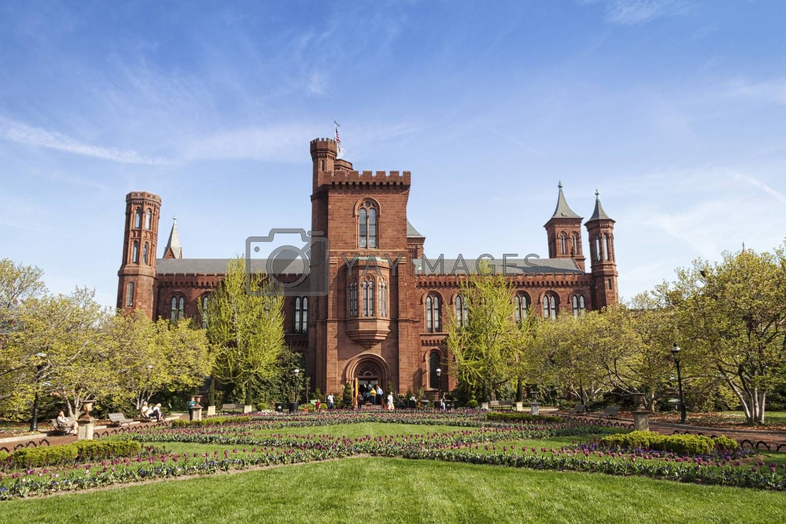 The original Smithsonian Institutional building in Washington, D.C.