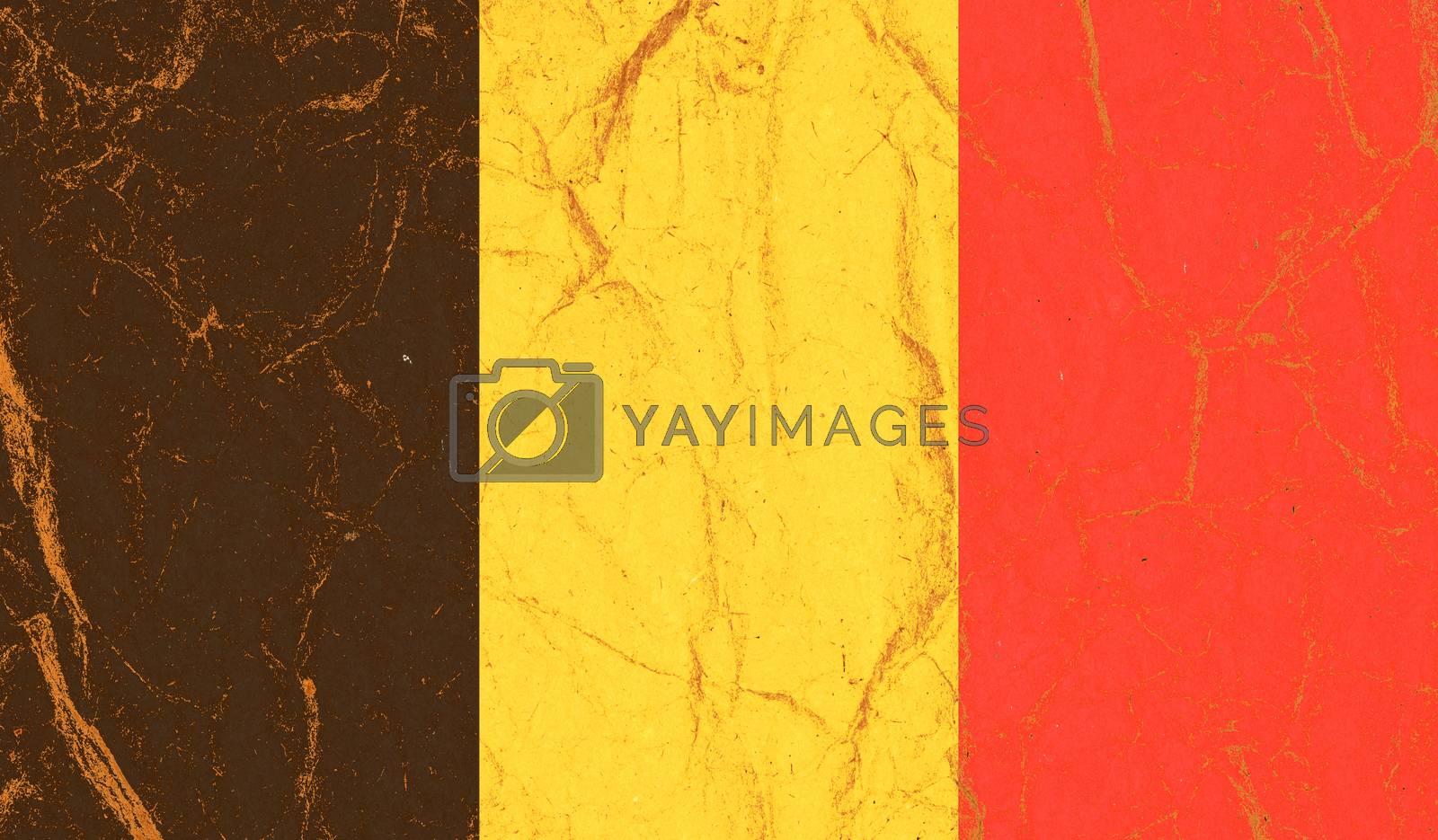 Belgium paper flag