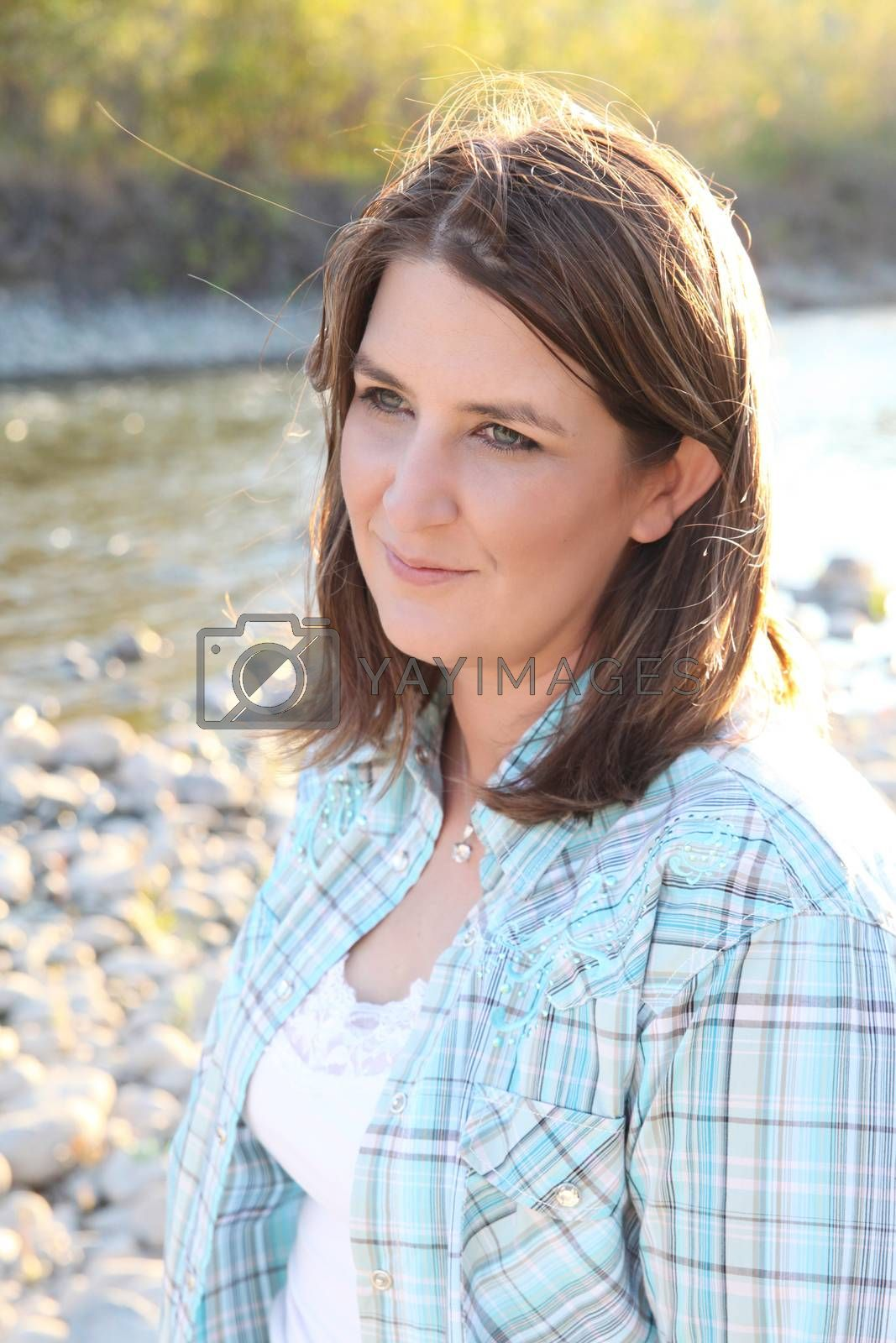 Adult female portraiture in natural light setting