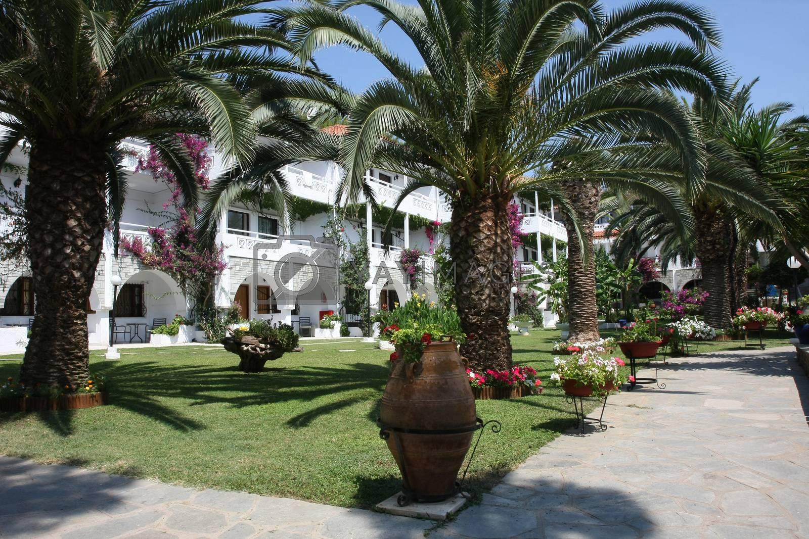 Interior garden and rooms in sea resort by tdjoric