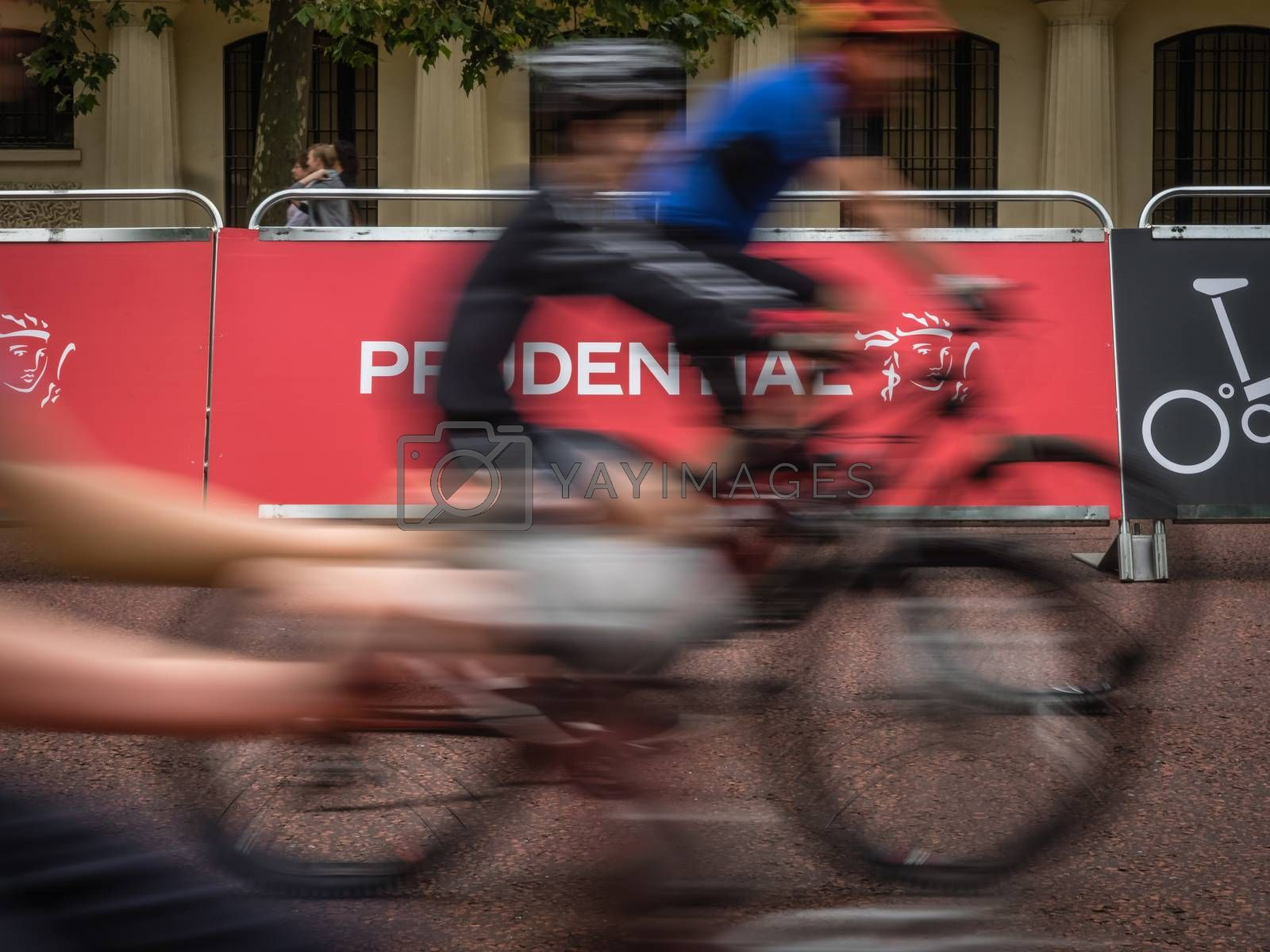 London, July 2016. Action during the Prudential Ride London Freecycle event in London UK that took place over the weekend on 30 and 31 July 2016