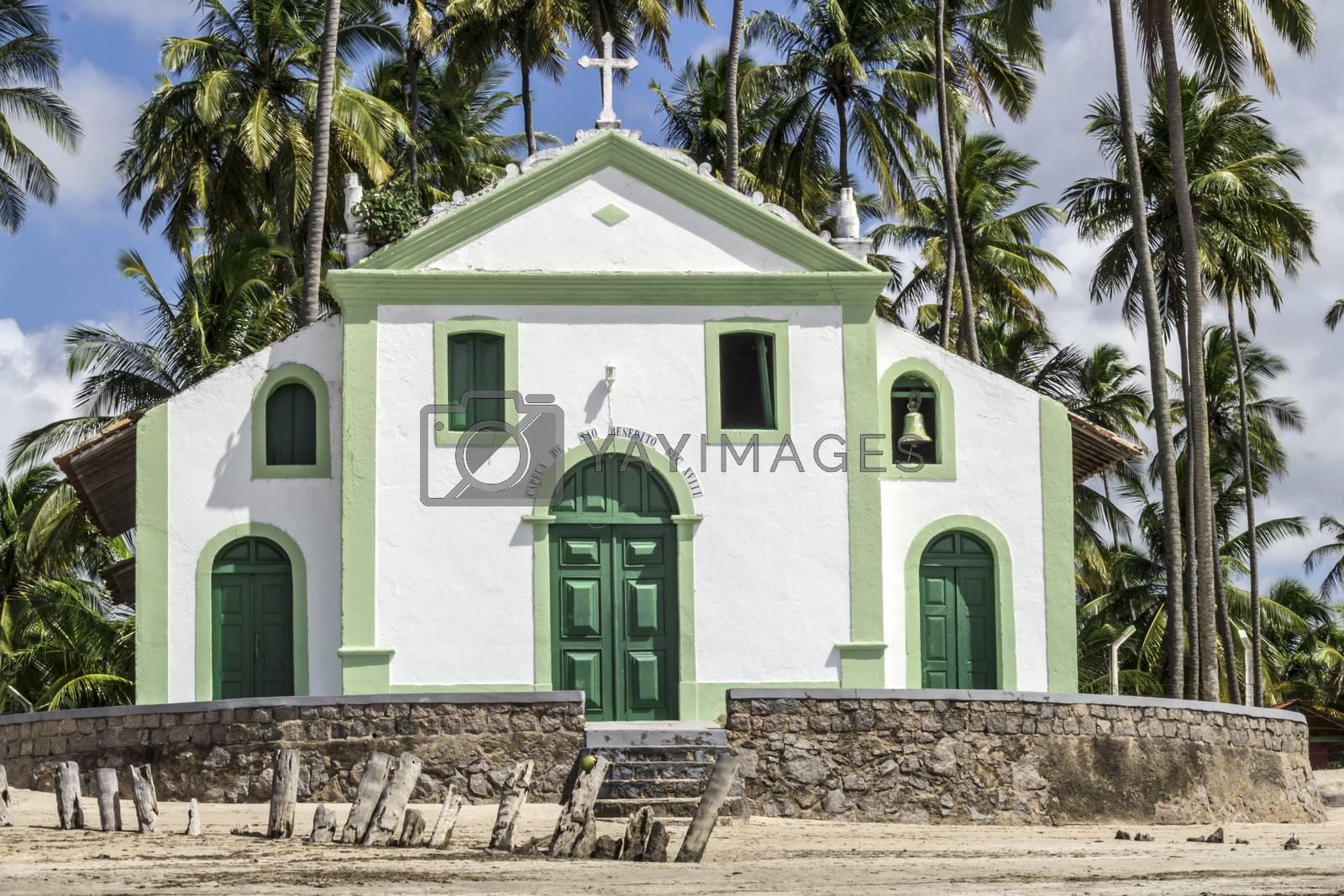 Catholic Church of Saint Benedict in Sheep Beach in Pernambuco northeast Brazil