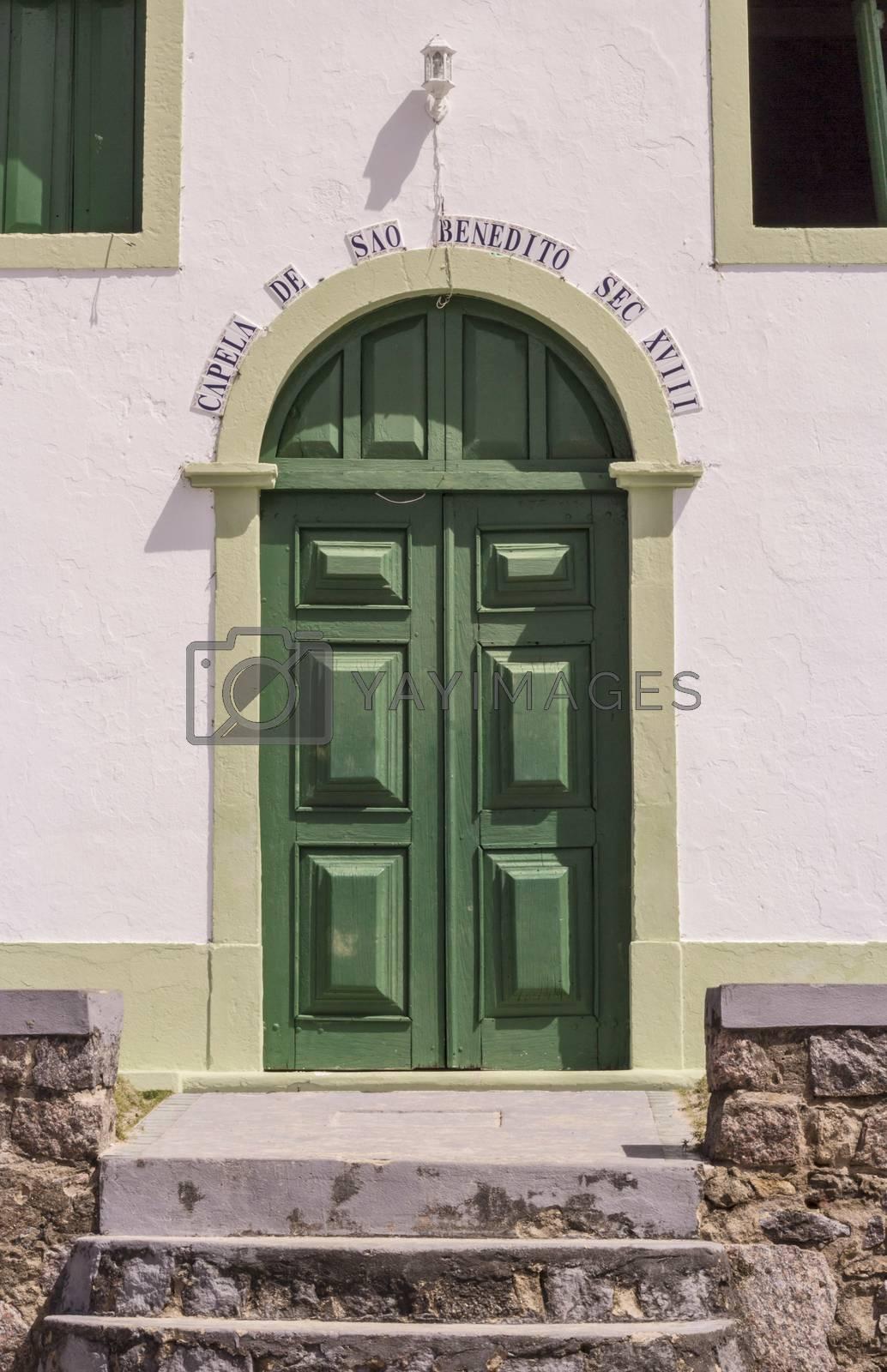 Detail of catholic Church of Saint Benedict in Sheep Beach in Pernambuco northeast Brazil