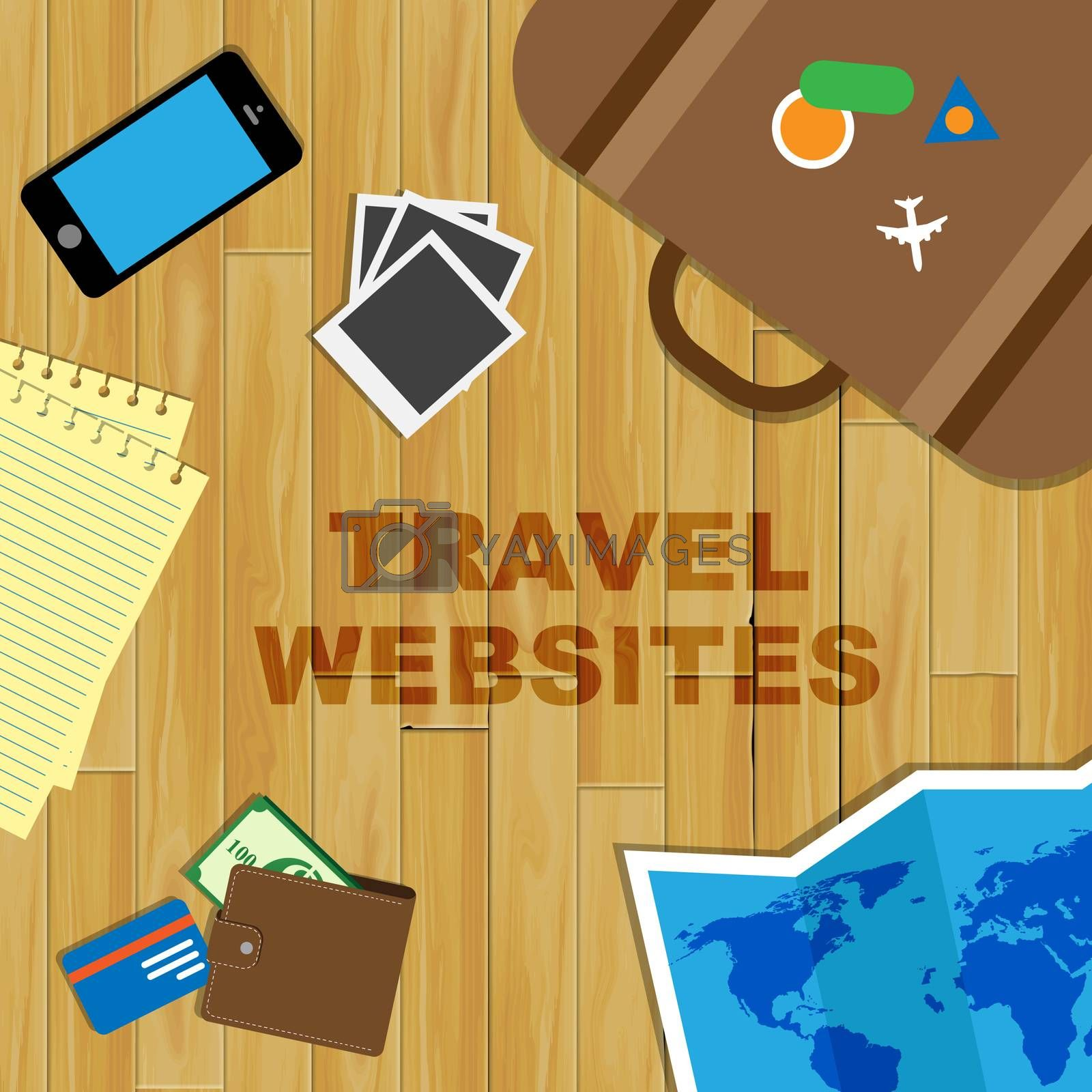Travel Websites Showing Travelled Www And Explore