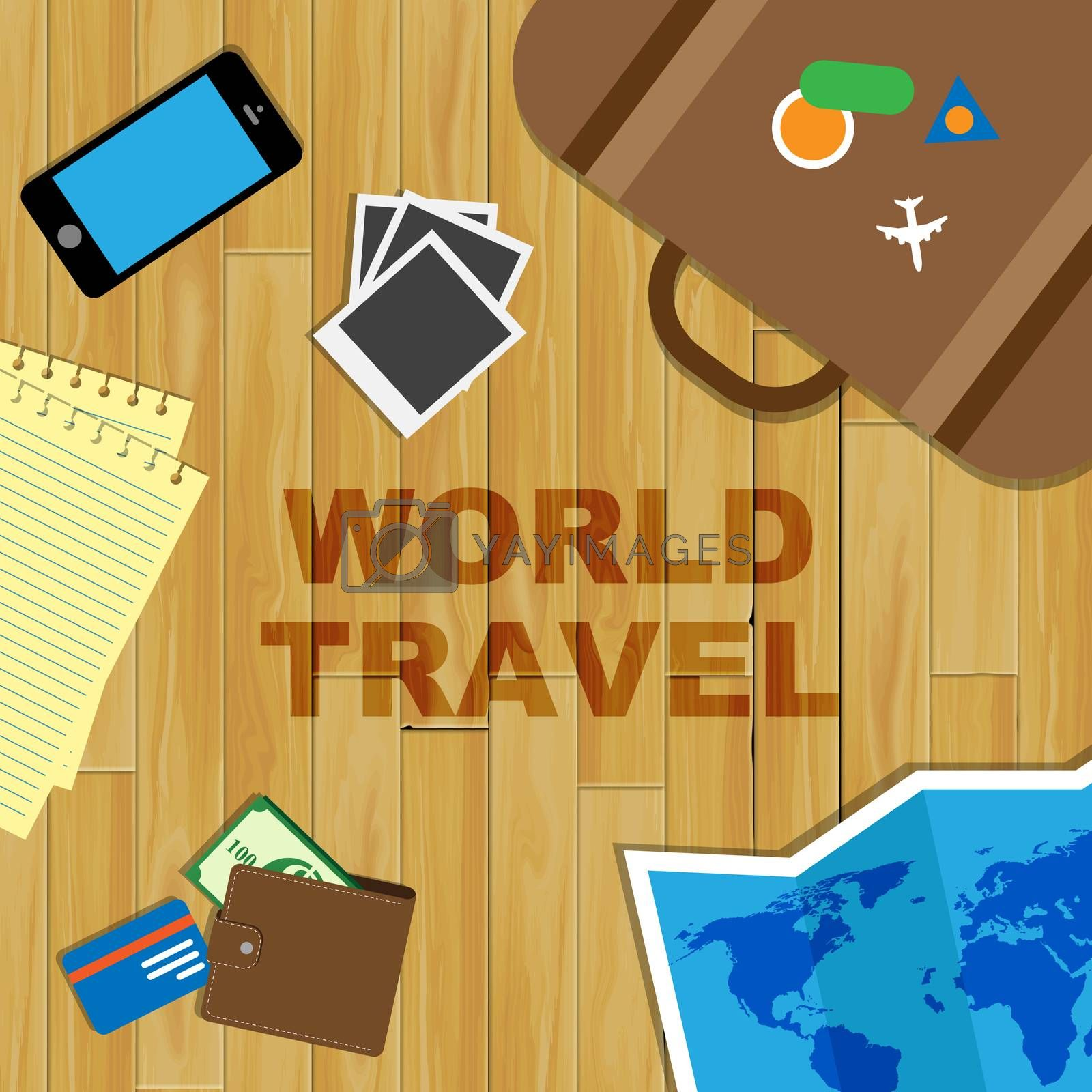 World Travel Representing Touring Travelled And Trips