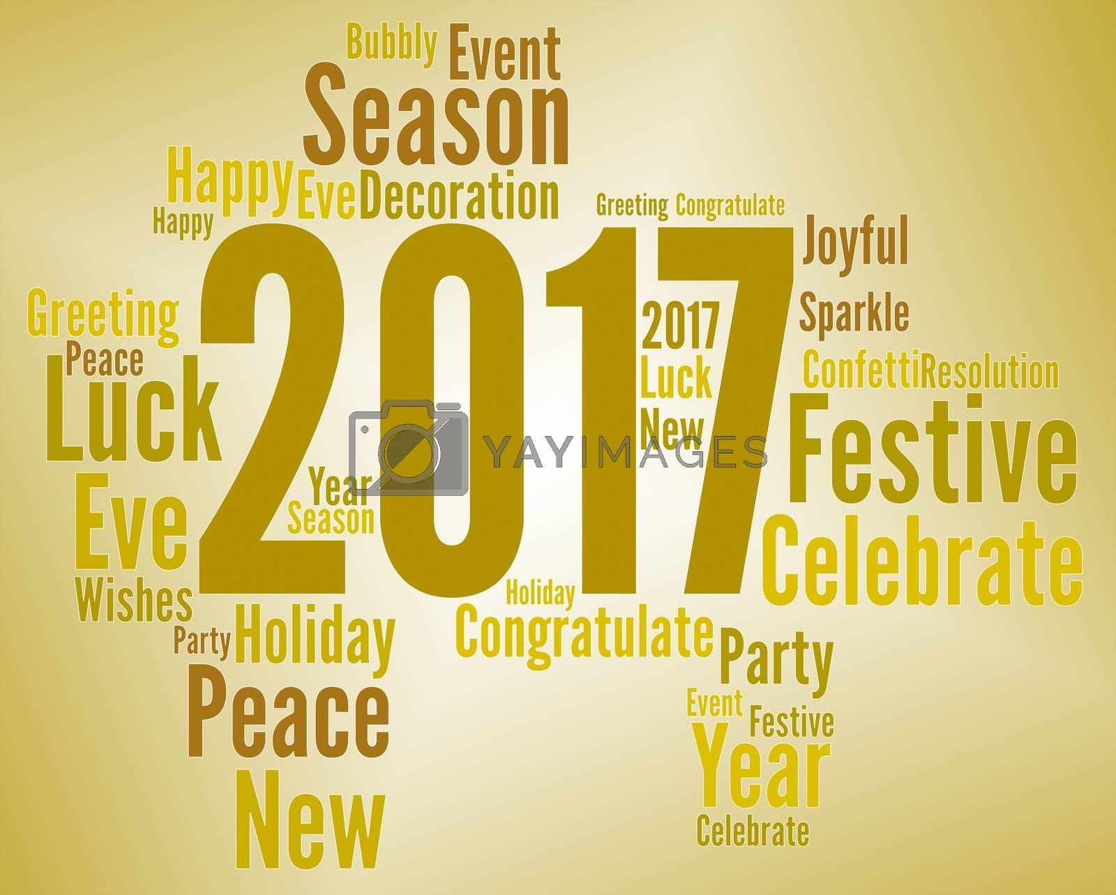 Twenty Seventeen Meaning Happy New Year And Celebrate