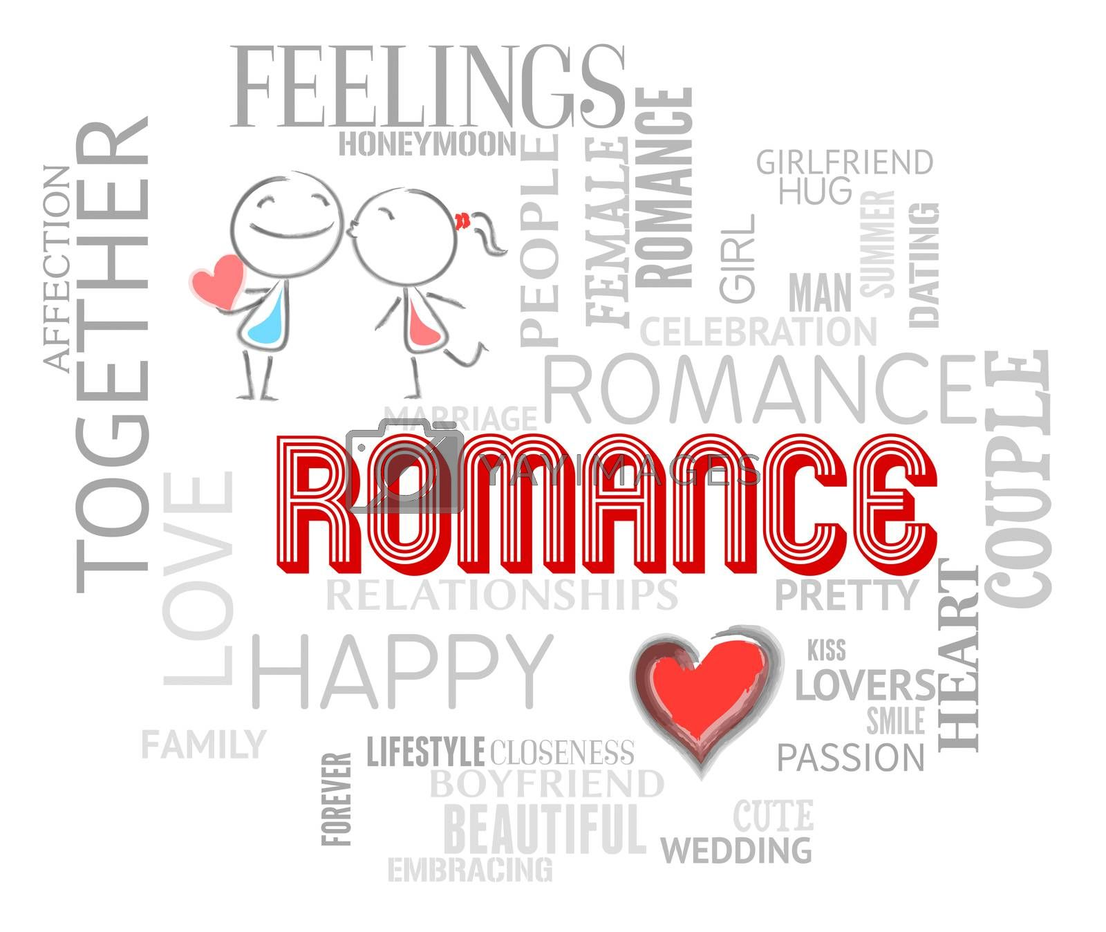 Romance Words Representing Find Love And Romancing