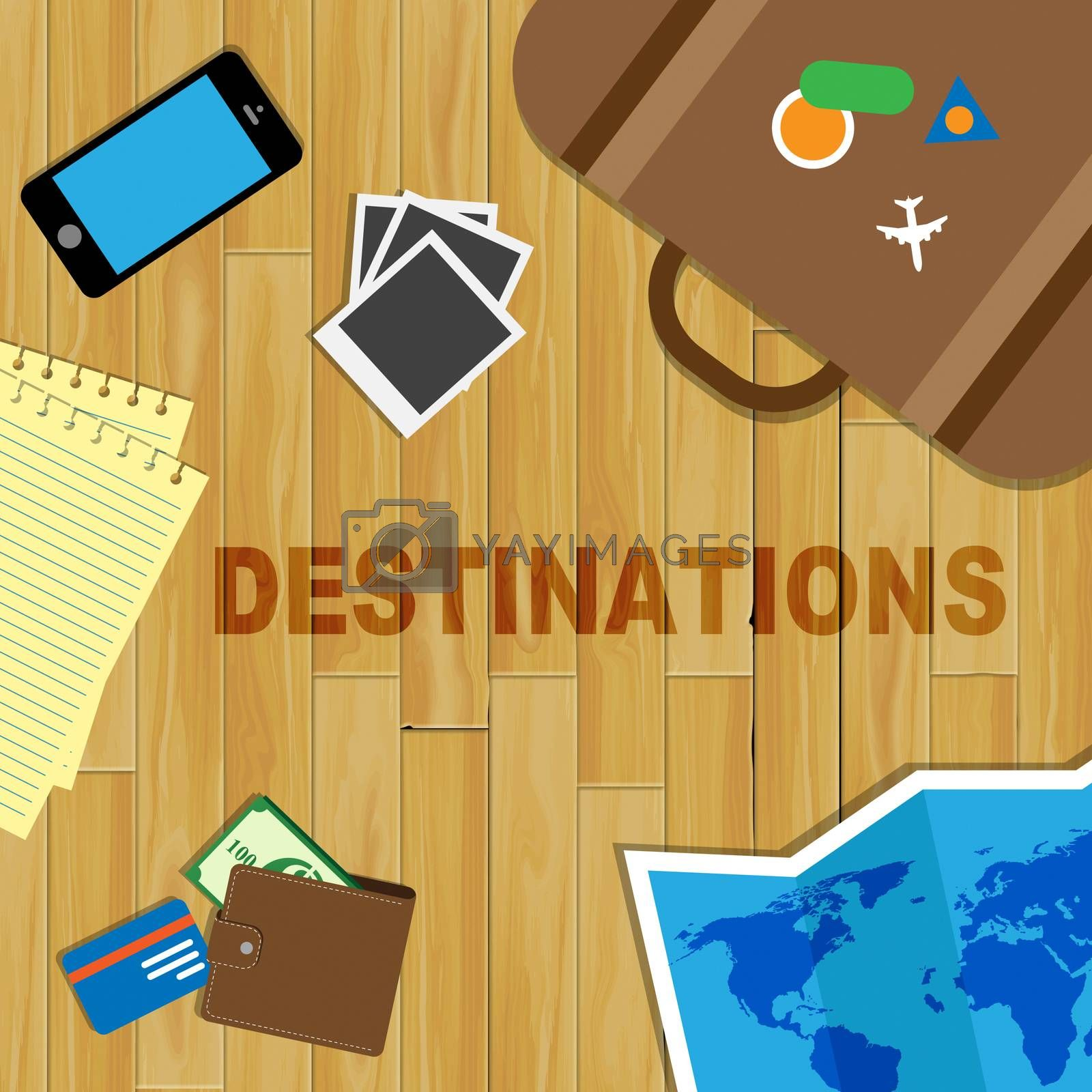 Travel Destinations Meaning Travelling Explore And Journey