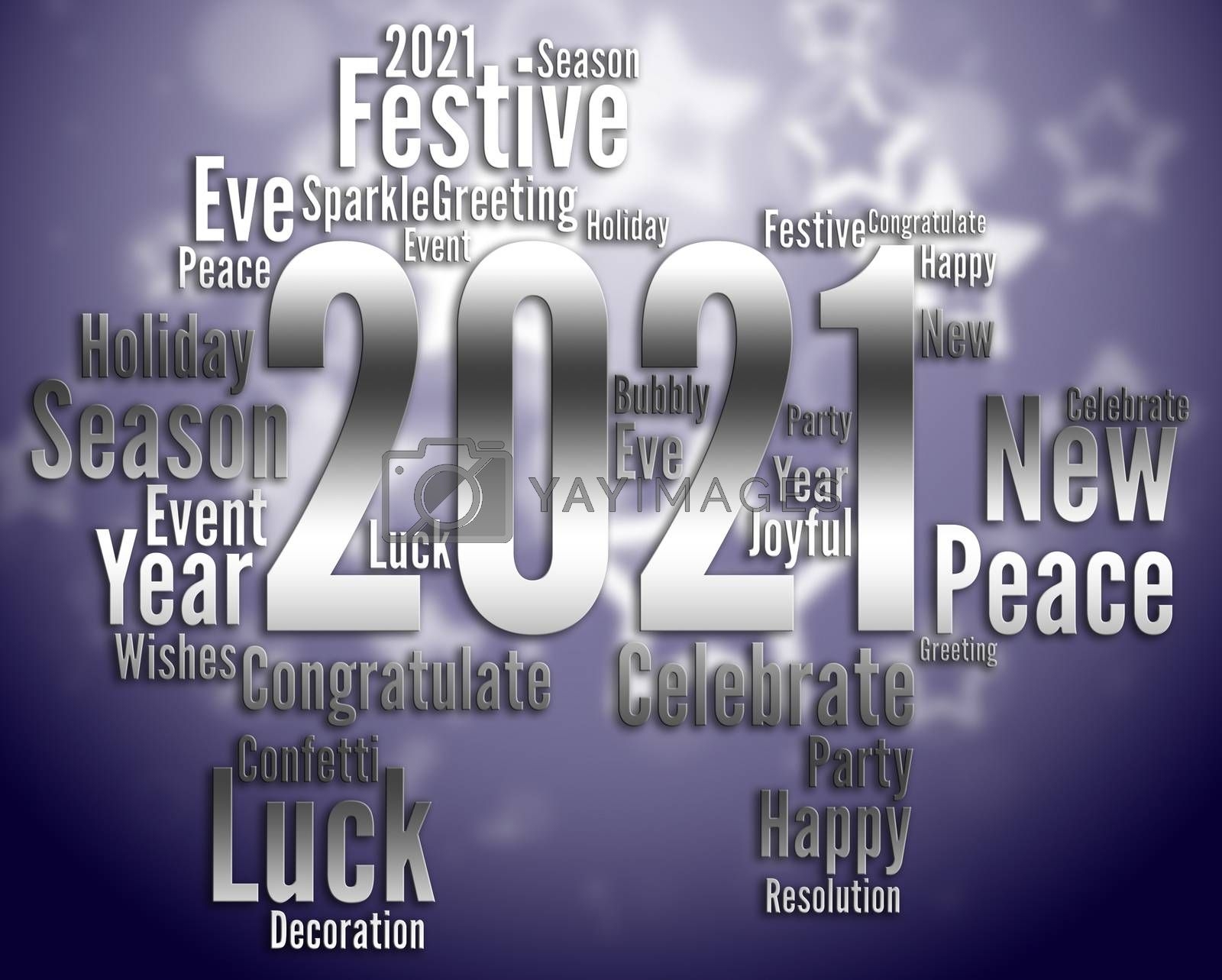 Two Thousand Twenty-One Representing Happy New Year And Celebrate