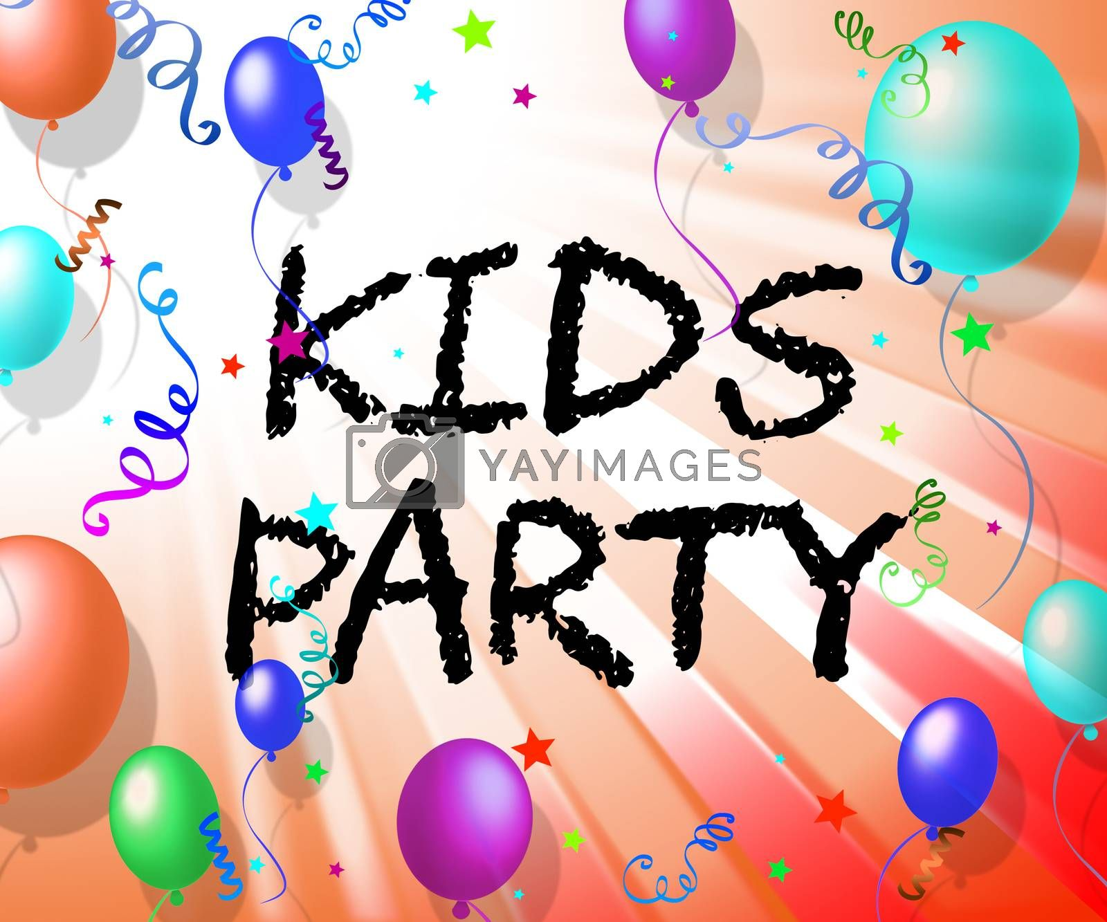 Kids Party Showing Toddlers Celebrate And Childhood