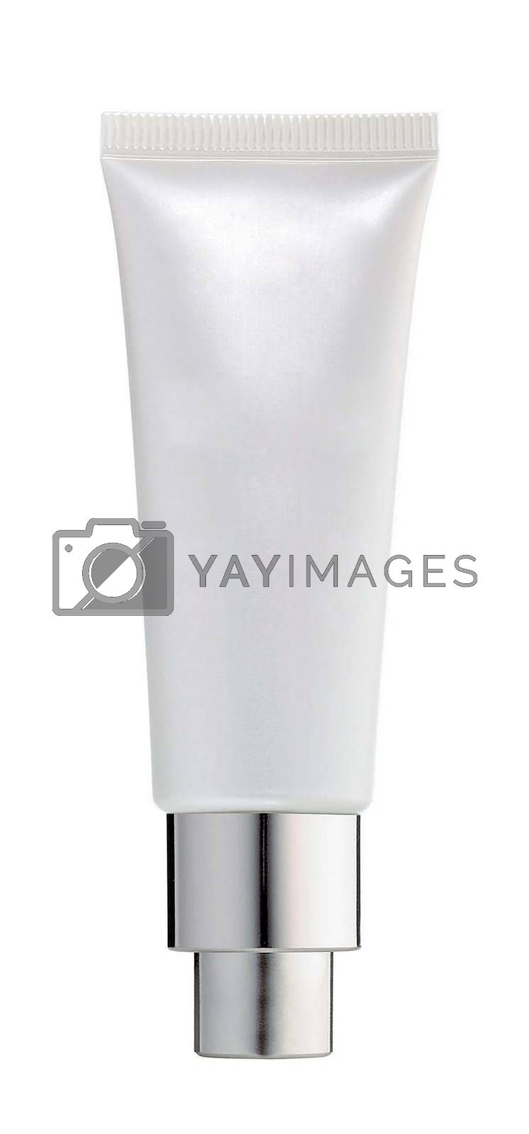 White tube for cream isolated on white background