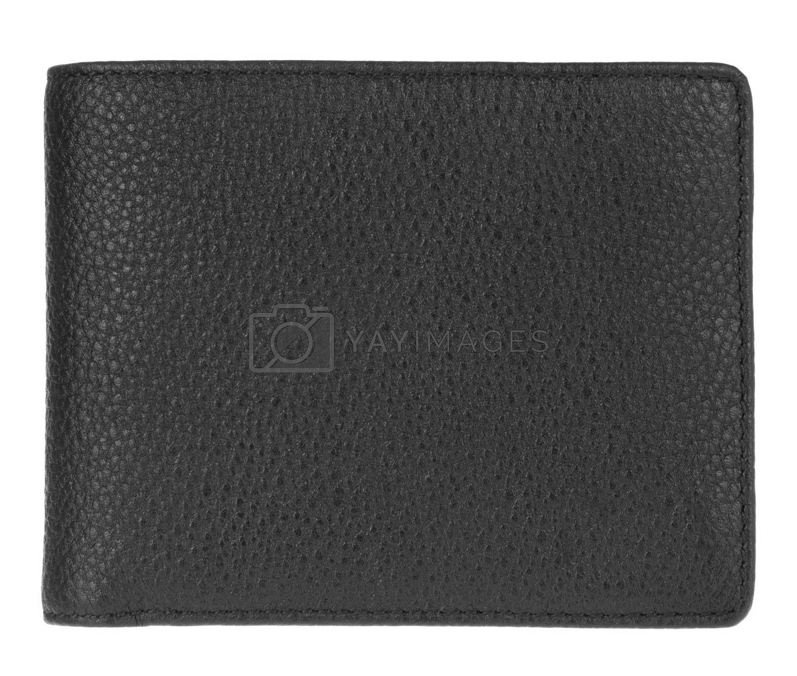 black wallet isolated on white background