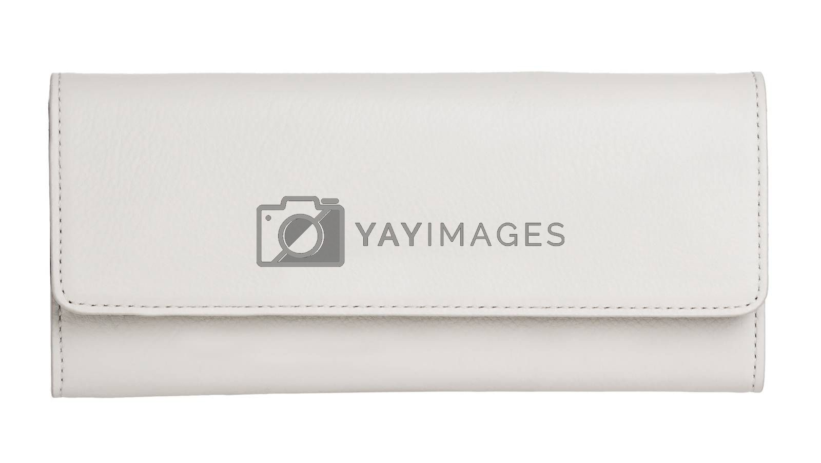 Woman purse (wallet) isolated on the white background
