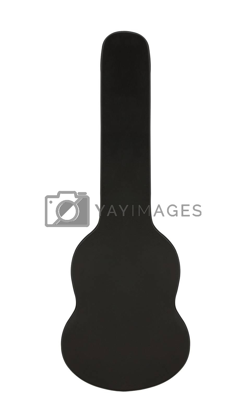 The Old Guitar case on white background