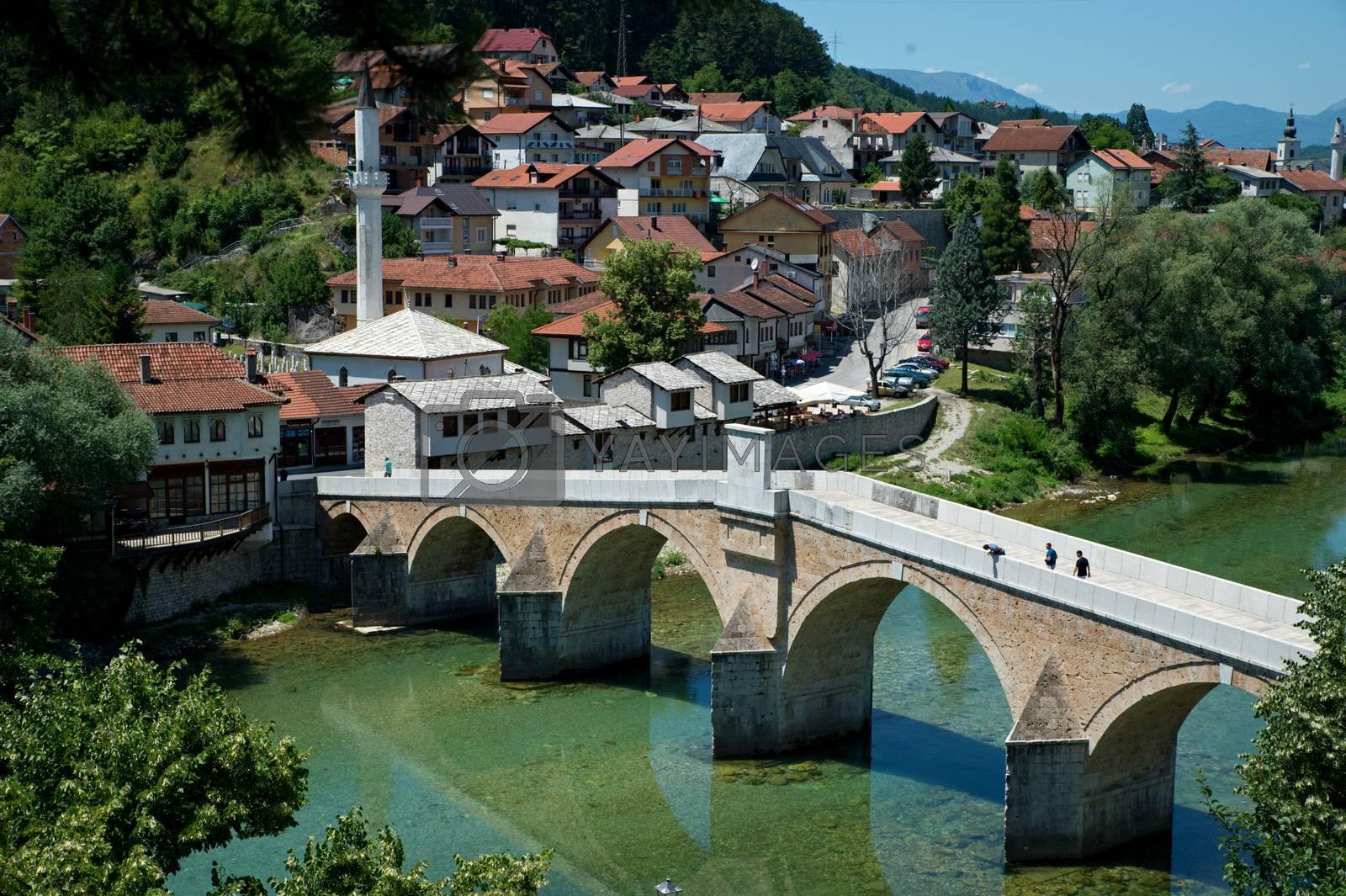 nice Old bridge in Konjic - Bosnia and Herzegovina