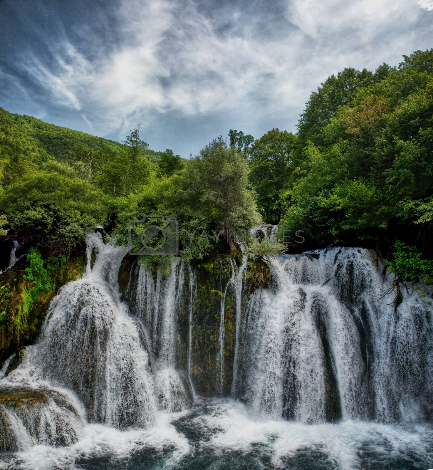 nice Plitvice Lakes national park waterfall, Plitvica, croatia