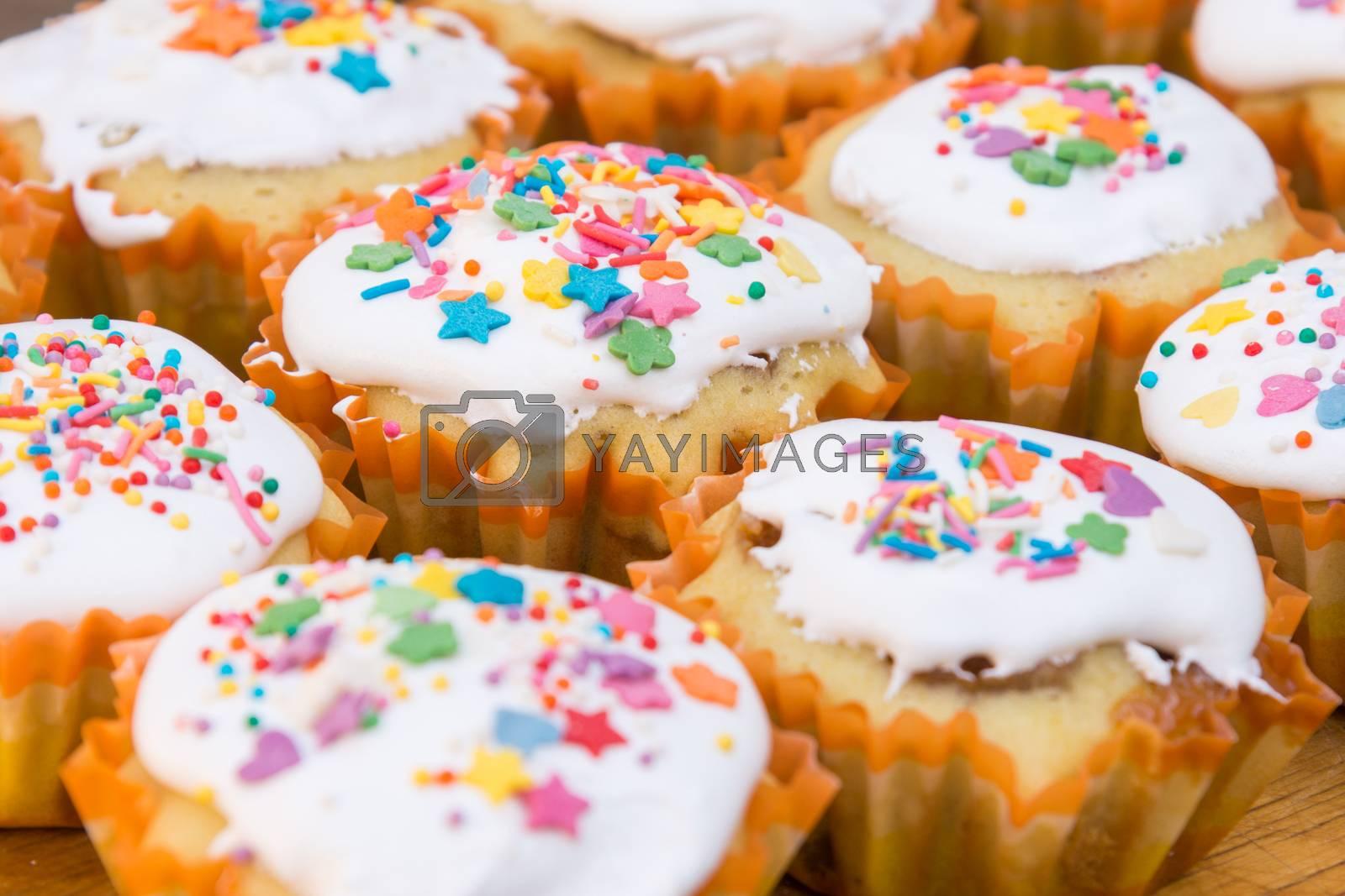 Easter cupcakes closeup