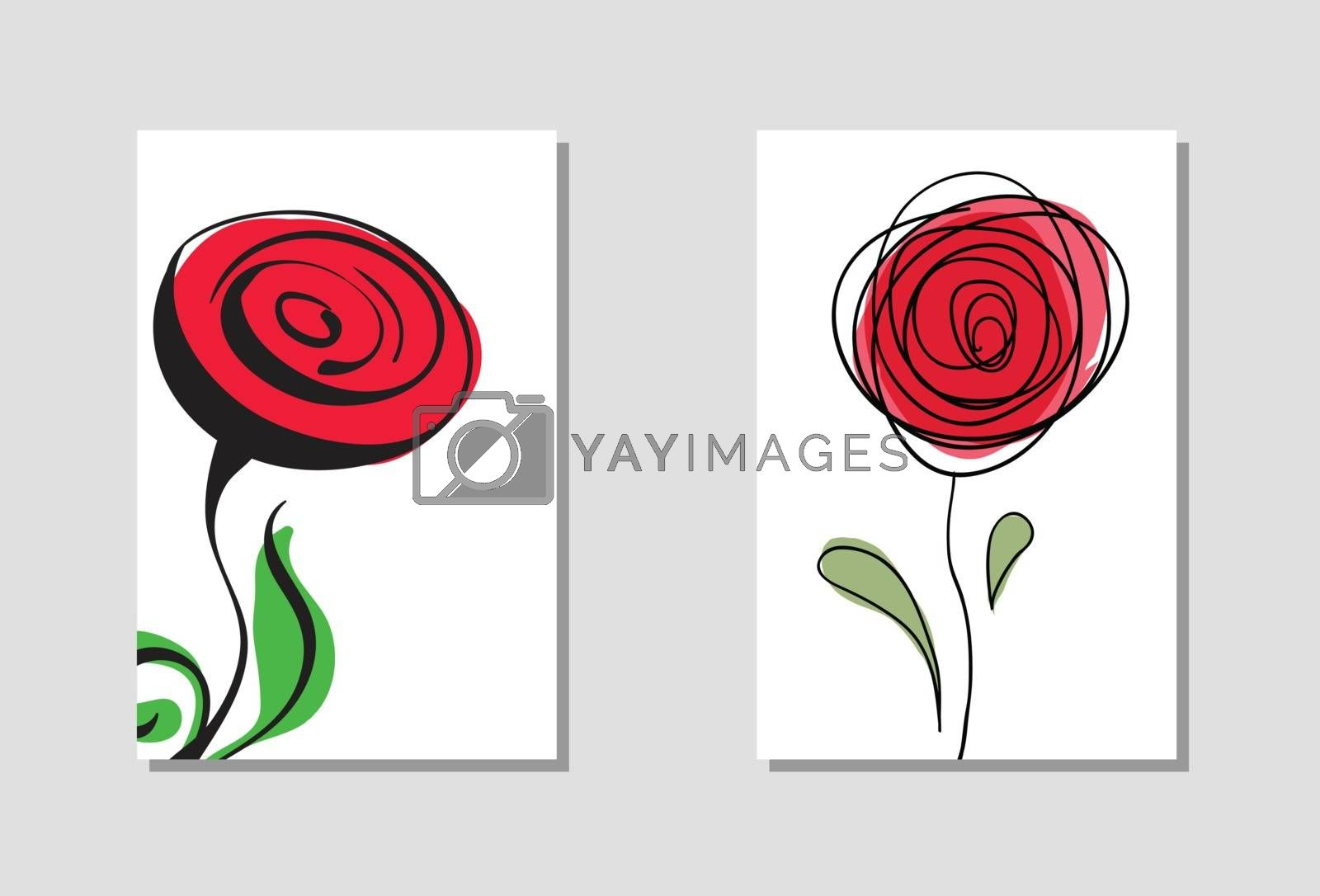 Vibrant floral vertical banners. by sdmix