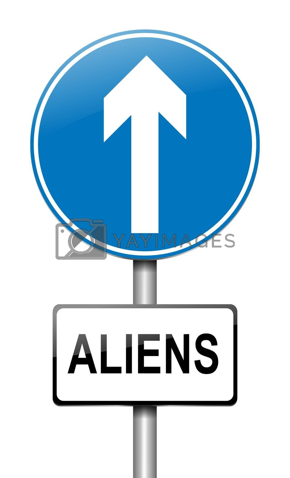 Aliens sign concept. by 72soul