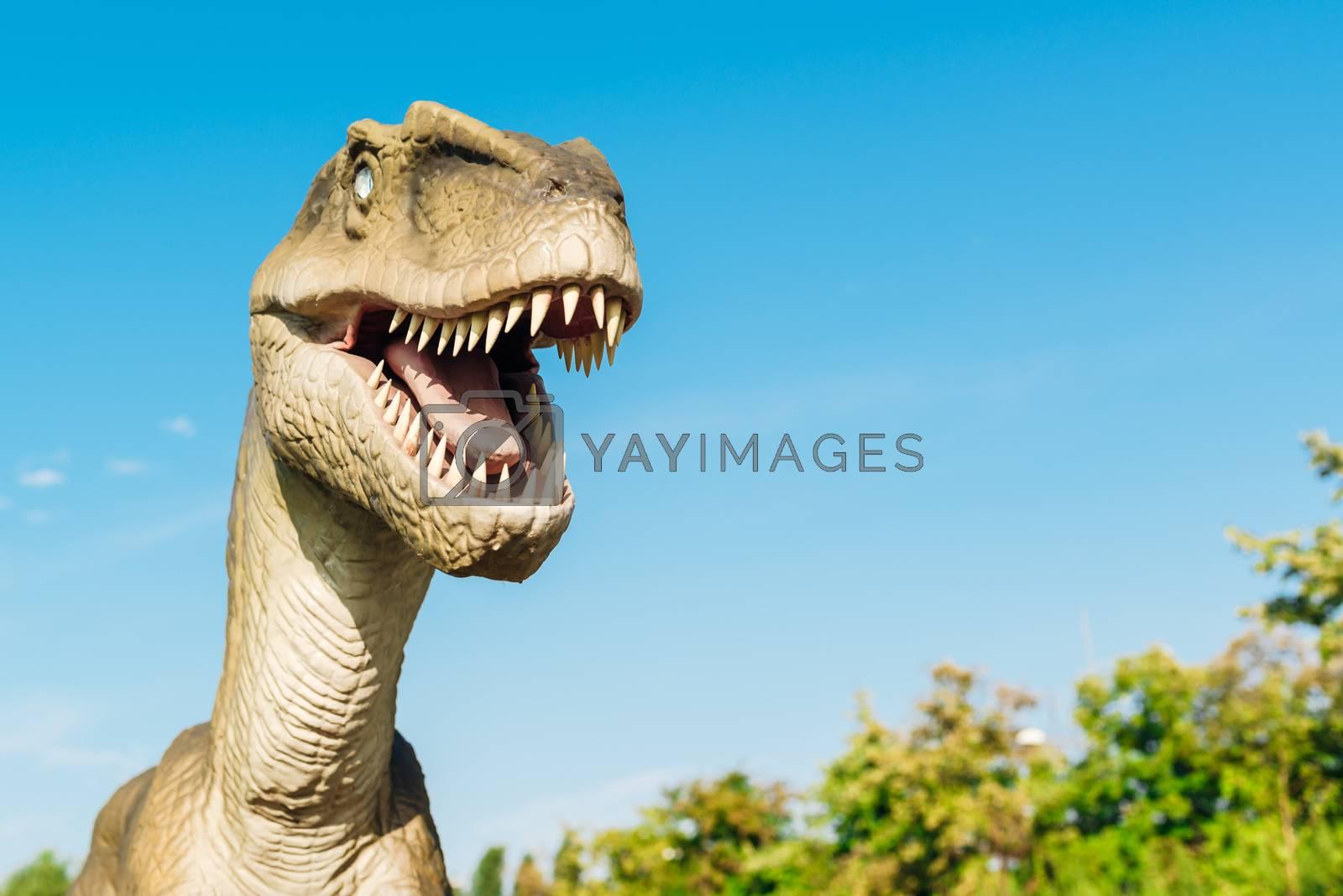 Velociraptor in Novi Sad Dino Park by stevanovicigor