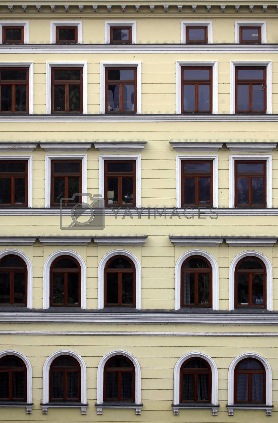 Prague facade by atlas