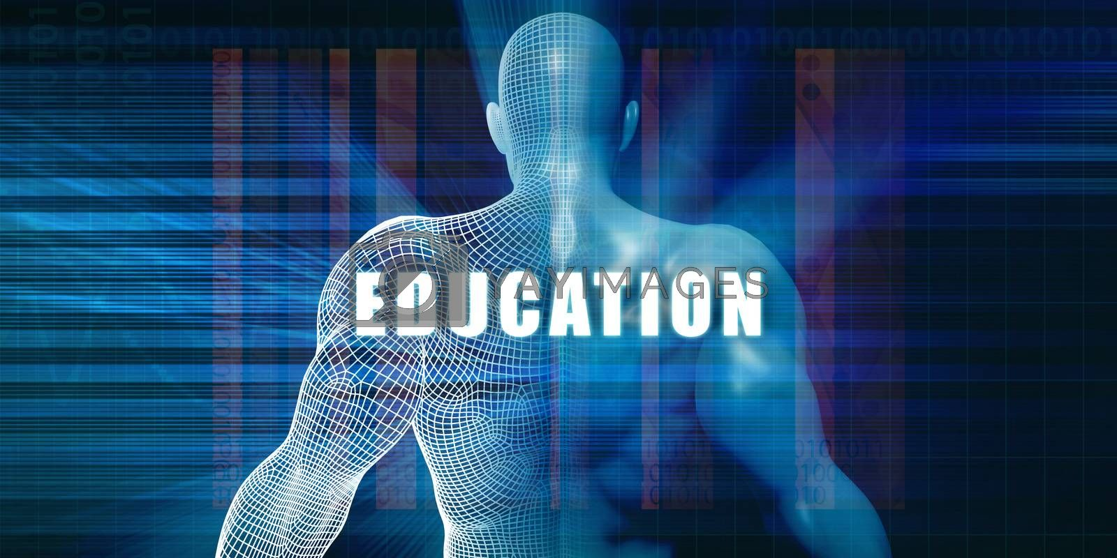 Education as a Futuristic Concept Abstract Background