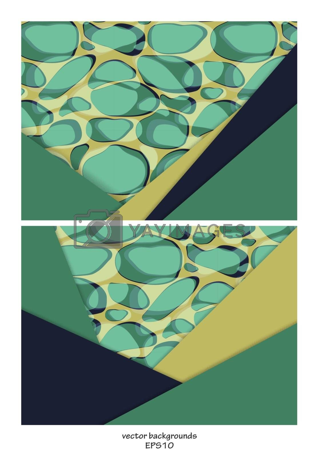 Vector  backgrounds set. Material design over samless. For flyers, brochures and websites. Elements for your design. Eps10