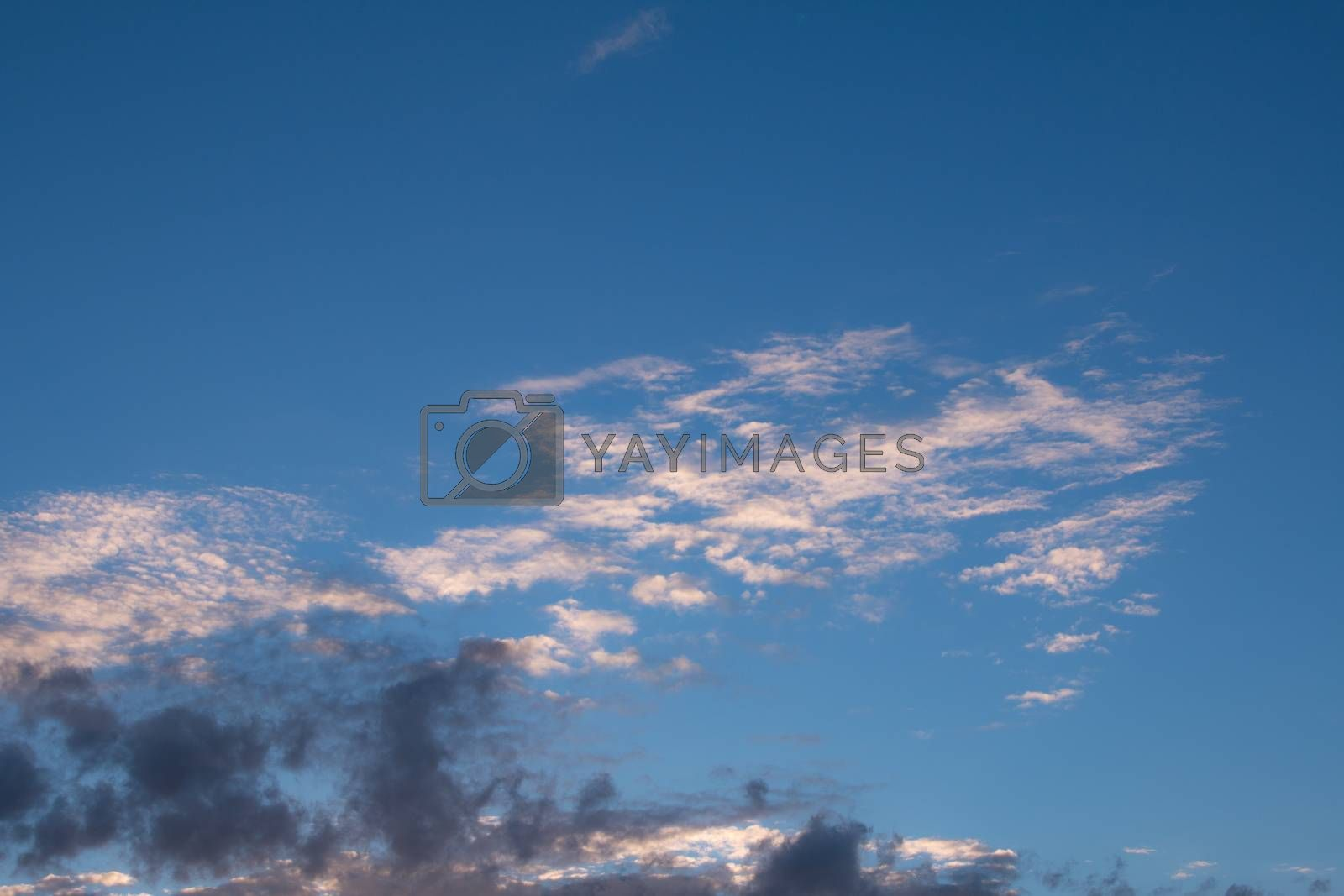 Beauty blue sky and clouds in daytime in Thailand by N_u_T