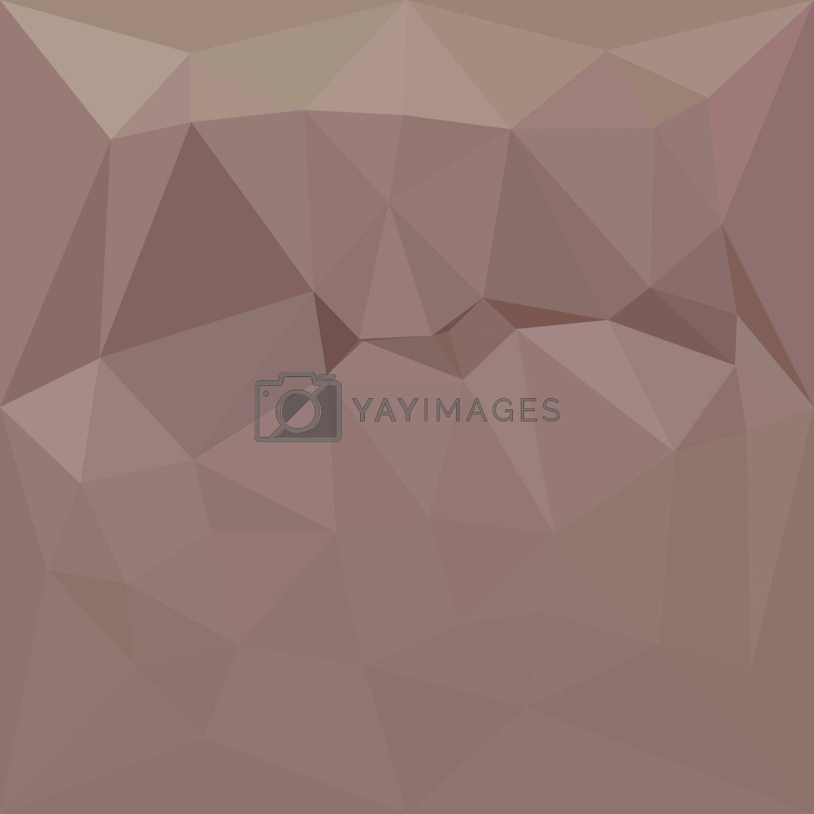 Low polygon style illustration of a copper rose abstract geometric background.