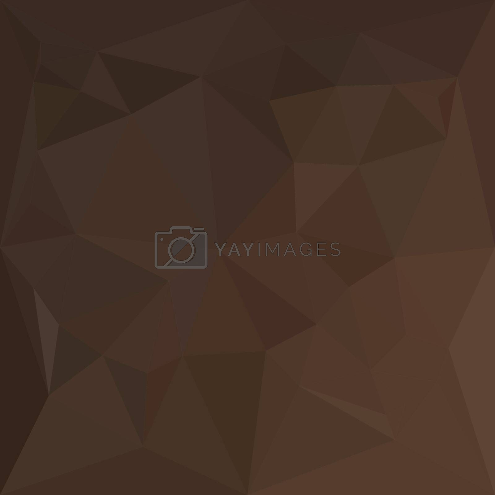 Low polygon style illustration of a dark puce brown abstract geometric background.