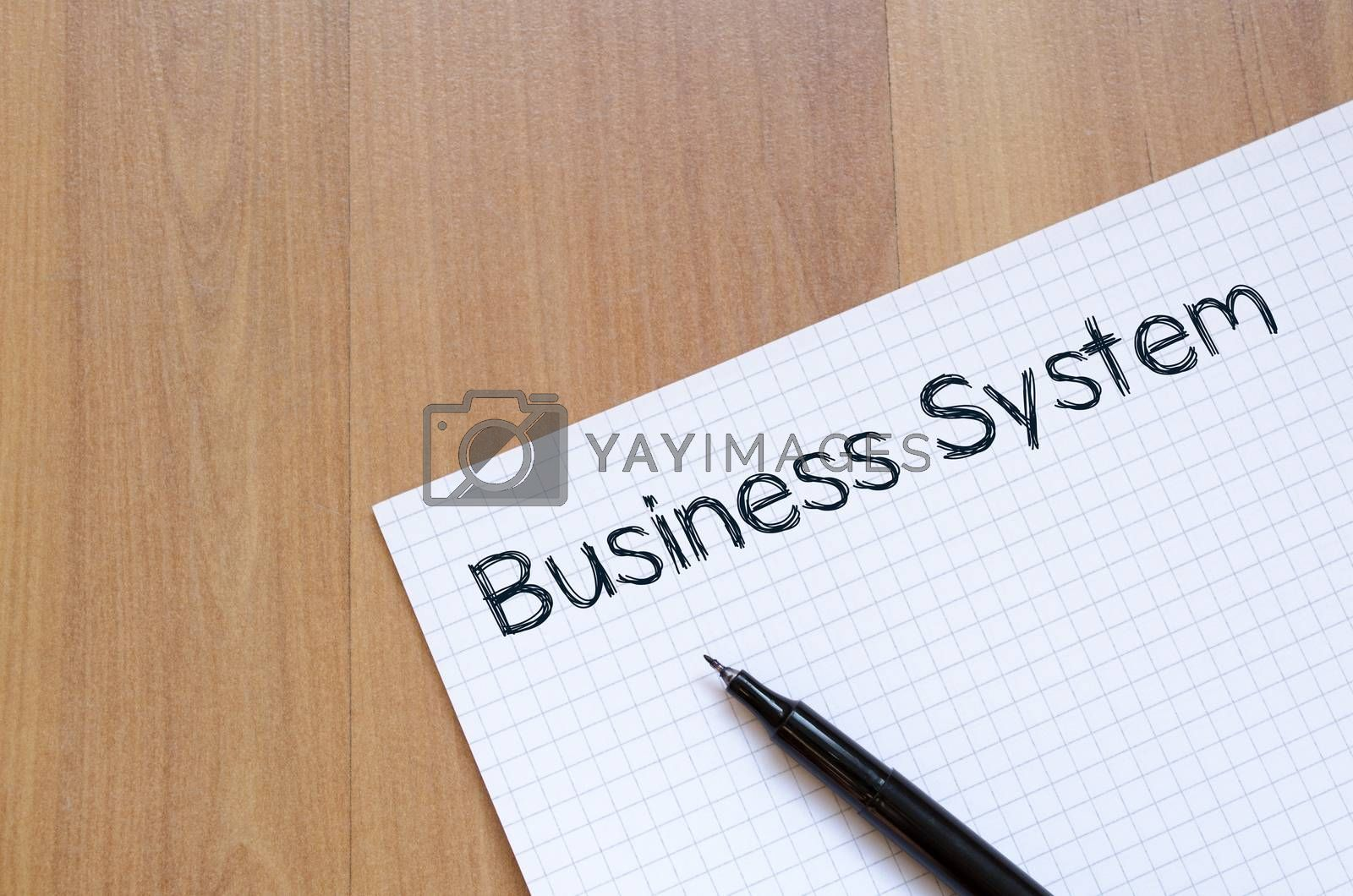 Business system write on notebook by eenevski