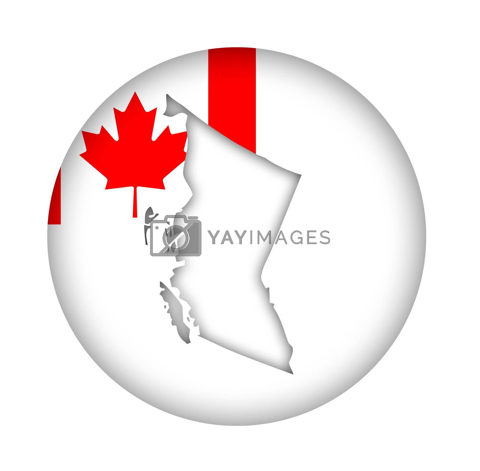 Royalty free image of Canada British Columbia map flag button by speedfighter