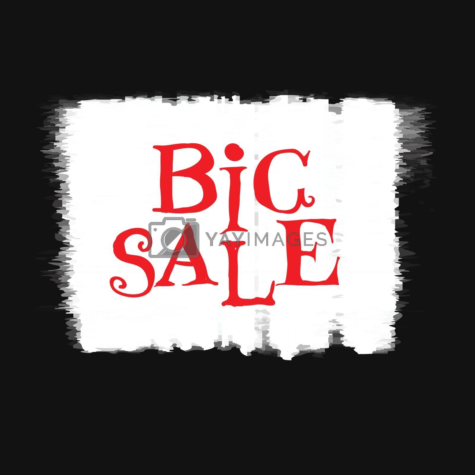big sale, vector handwritten text by sdmix