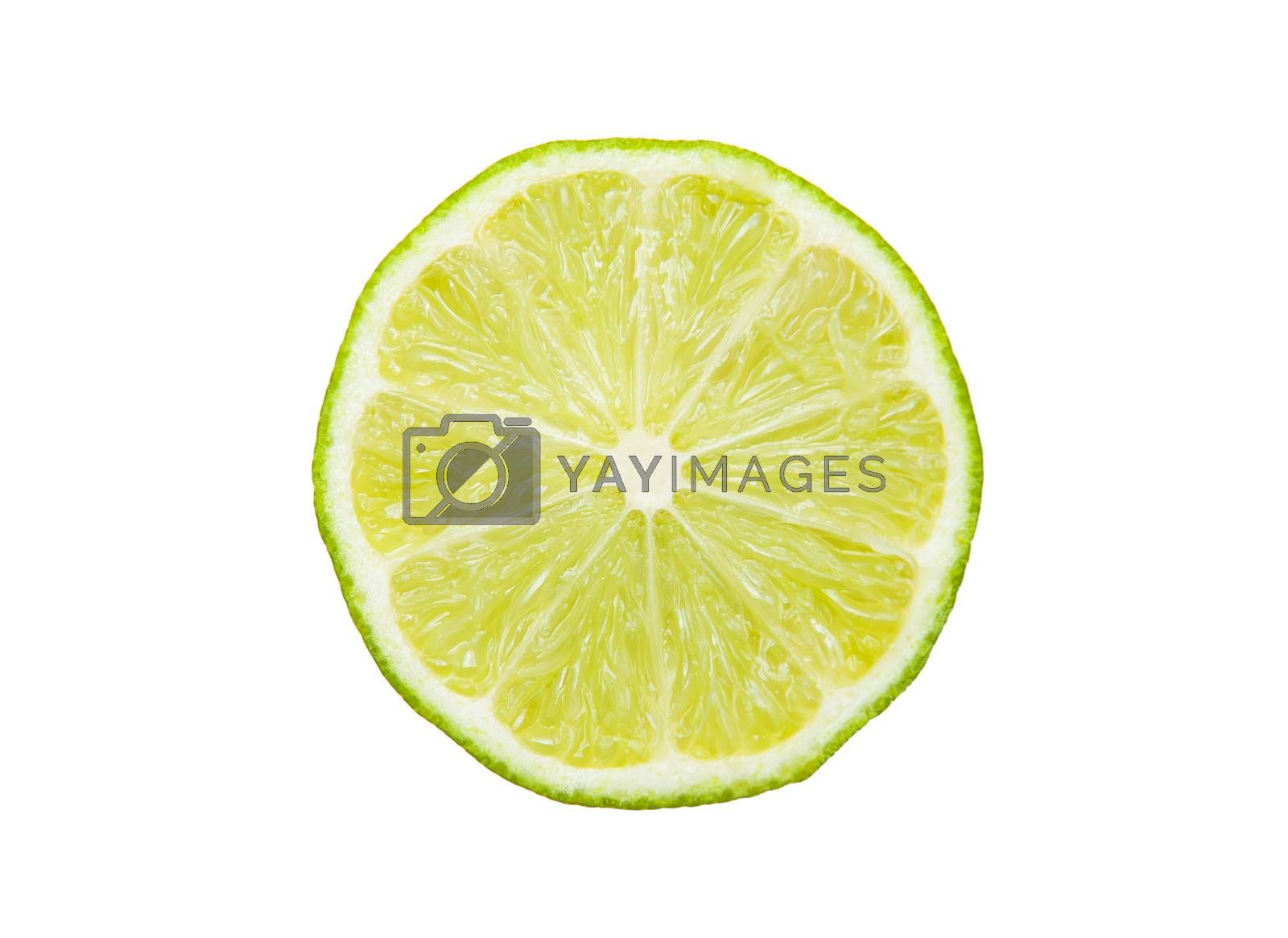 Lime isolated on the white background