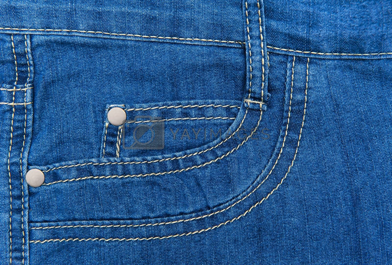 Close up of jeans background