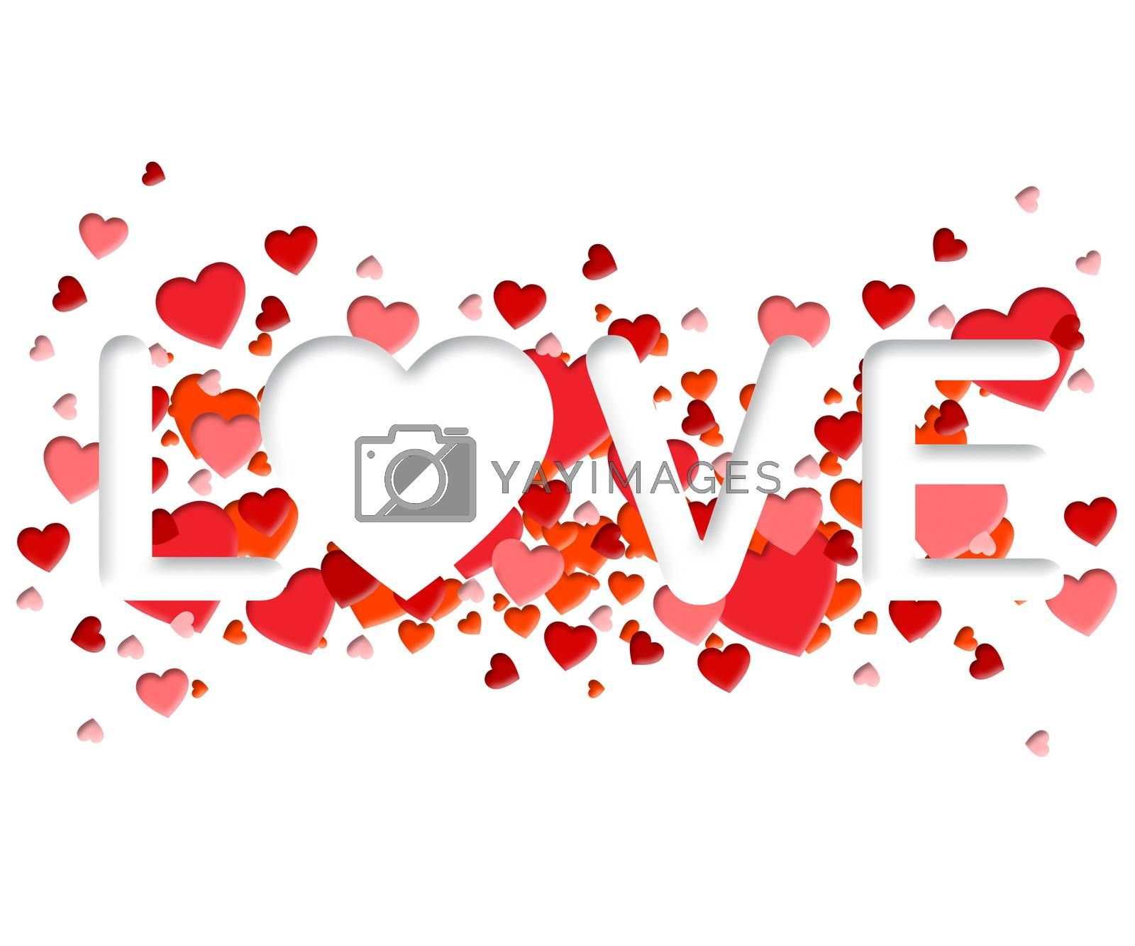 Love Word Representing Adoration devotion And Romance