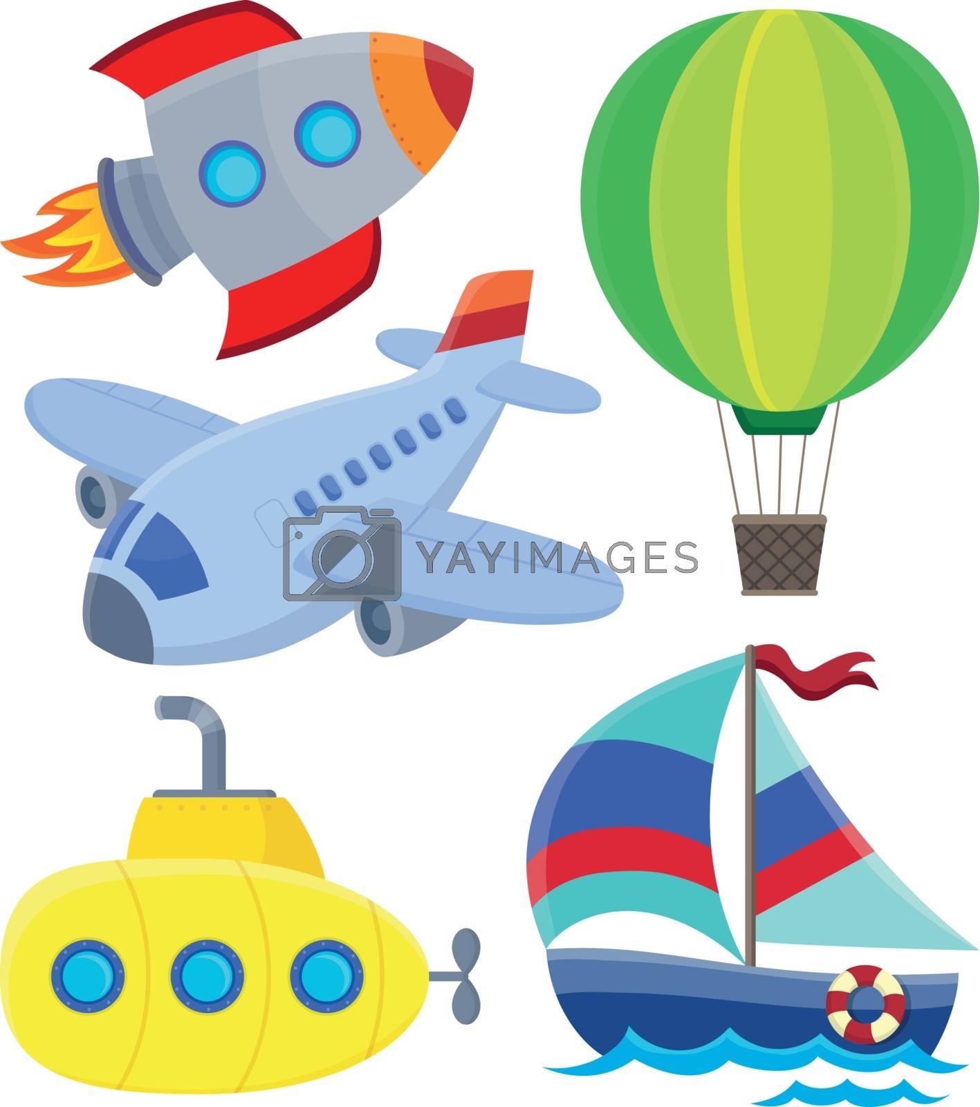Transportation theme collection 1 - eps10 vector illustration.
