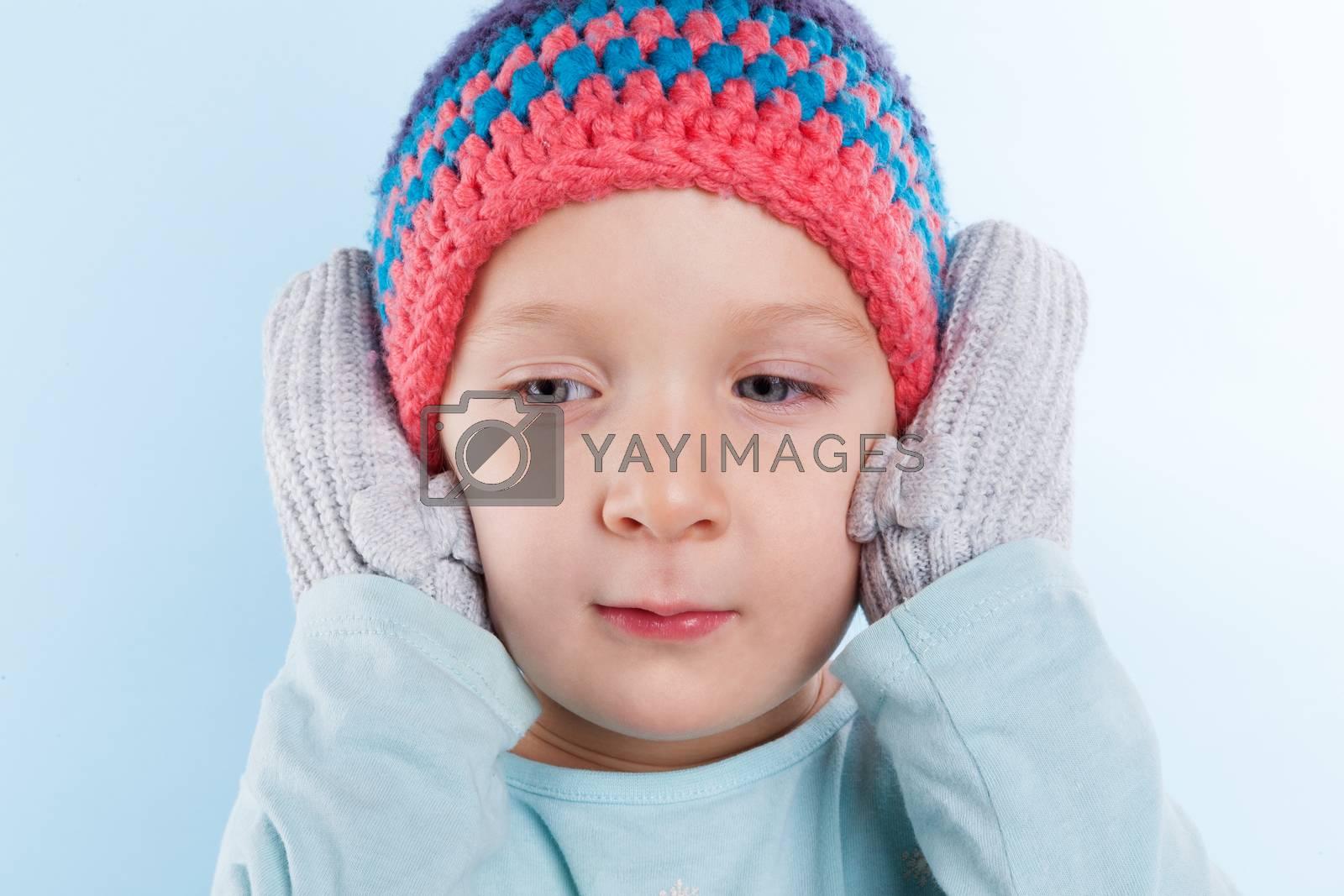 Cute baby girl winter. by eskymaks