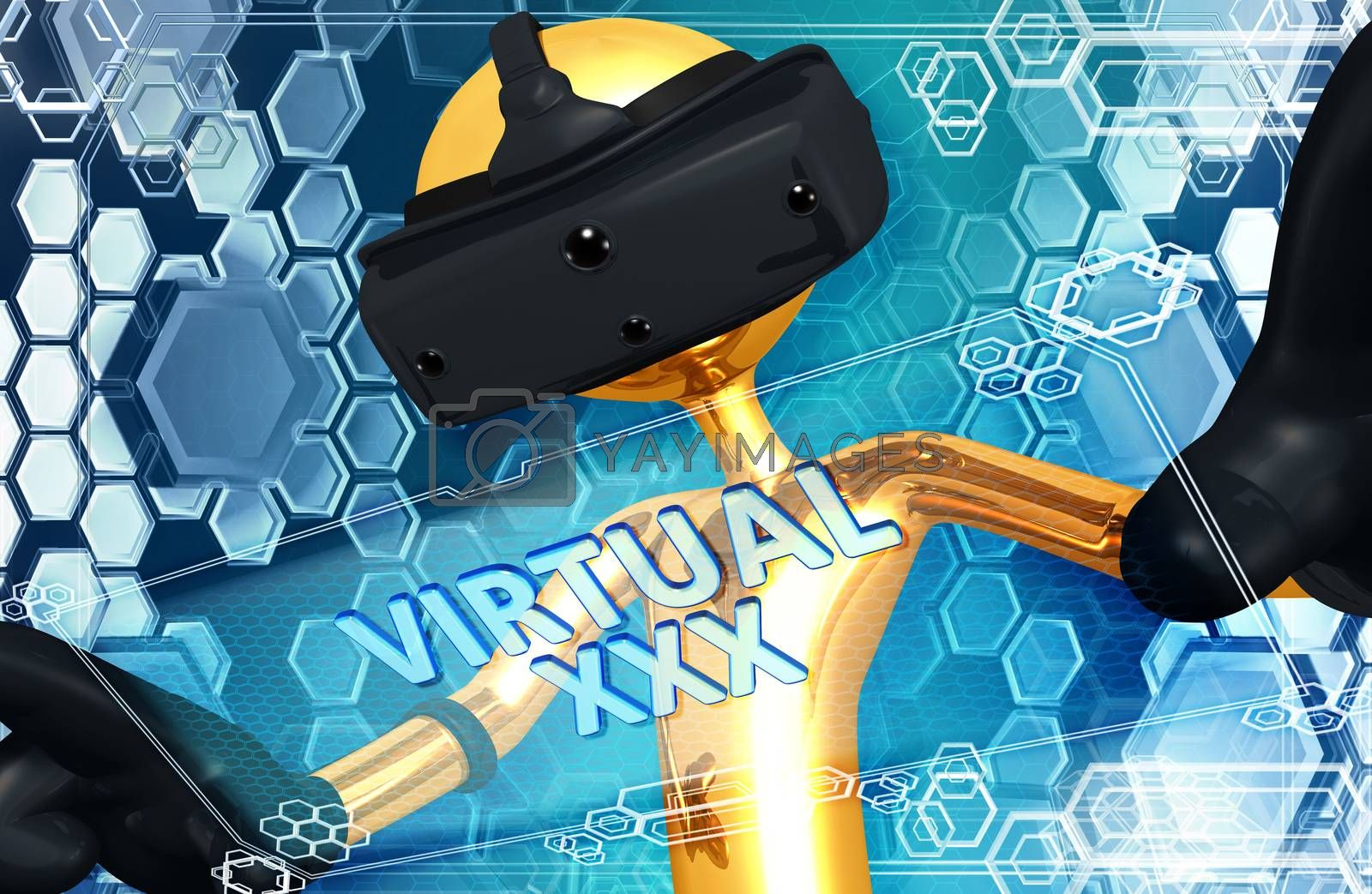 Virtual Reality VR 3D Illustration