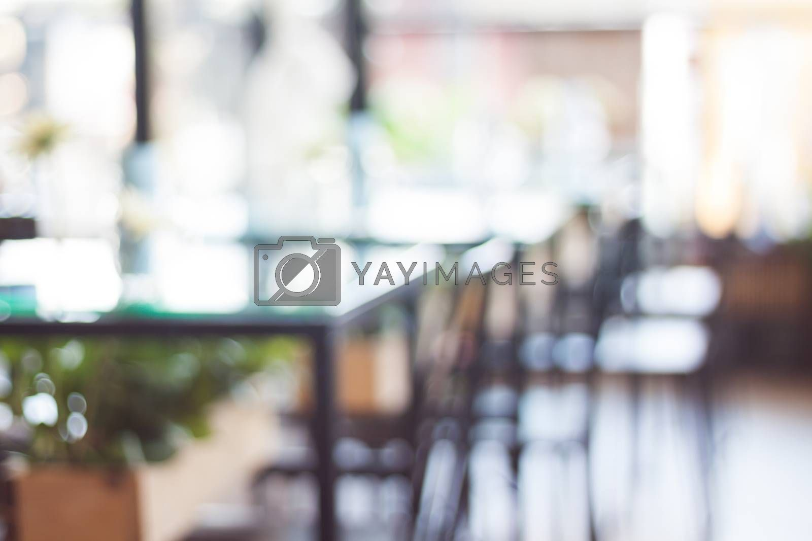 Royalty free image of Coffee shop with blur background by punsayaporn