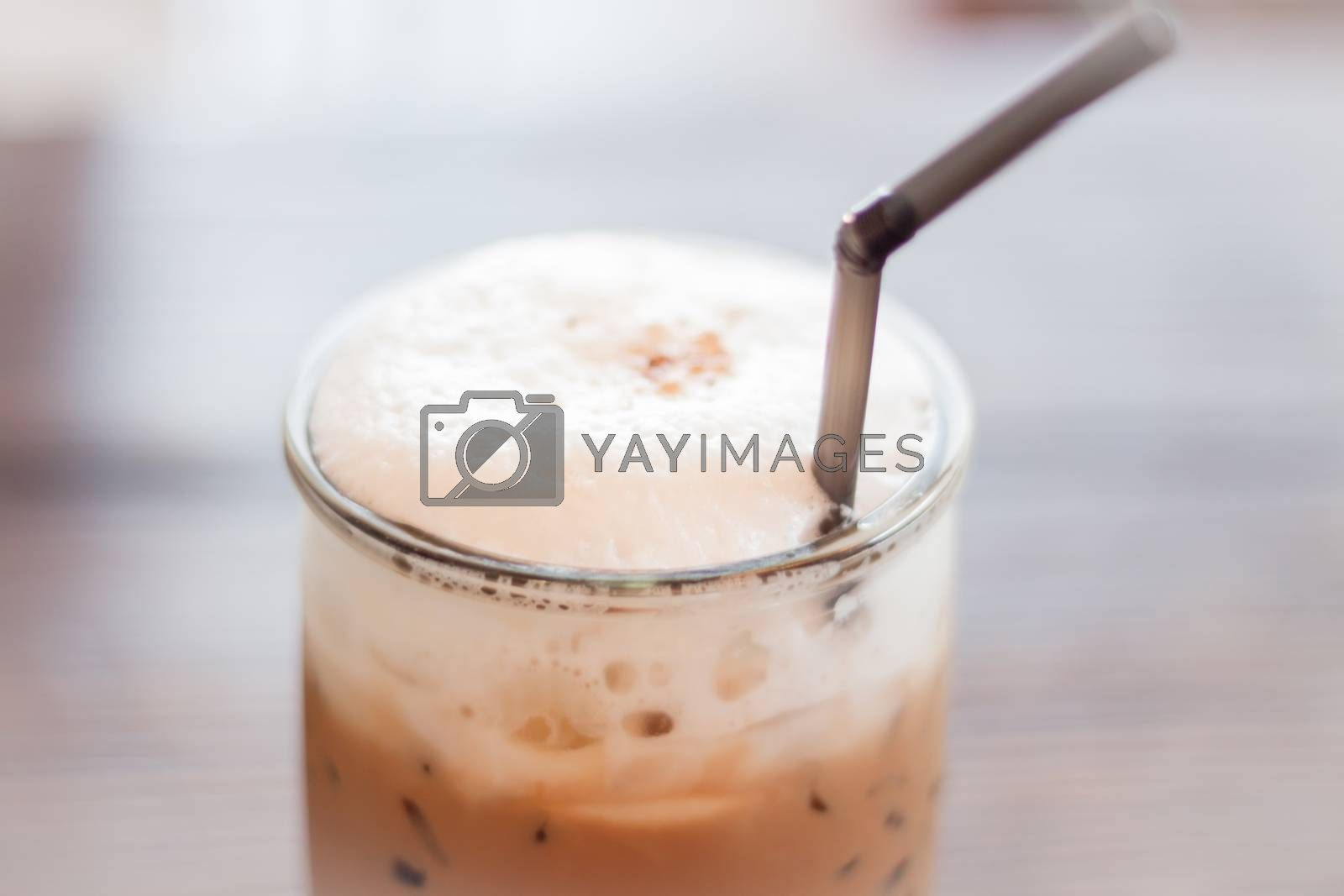 Royalty free image of Iced Mocha Coffee in glass on the table by punsayaporn