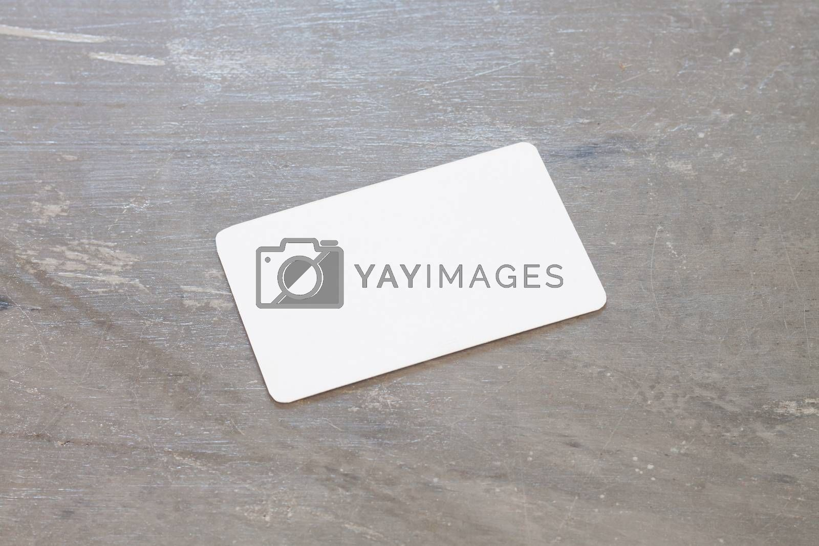 Royalty free image of Name card on grey background by punsayaporn