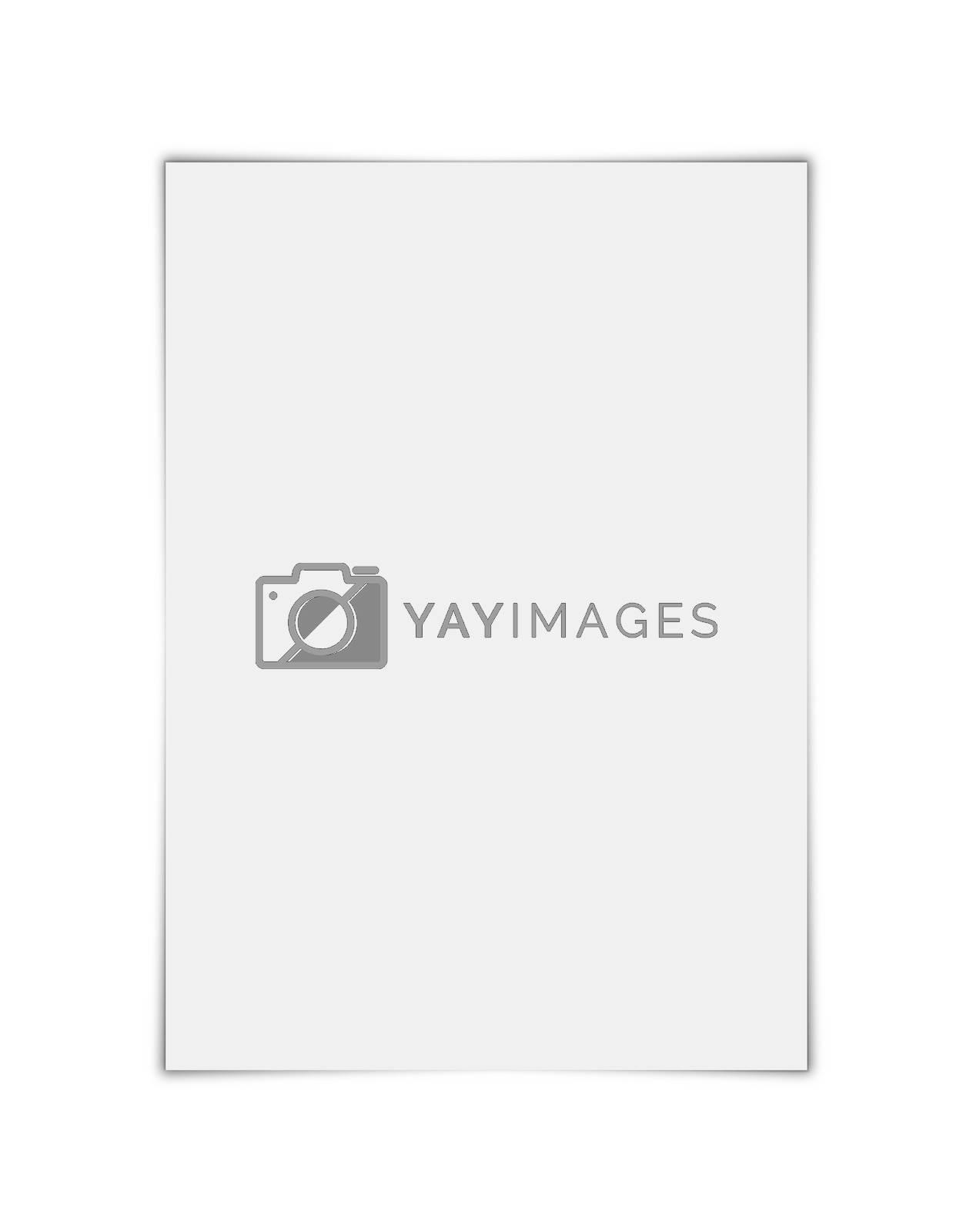 Layout blank sheet of paper in A4 format. Blank sheet of paper.