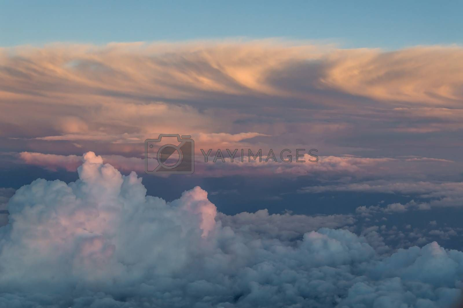 Royalty free image of Clouds from above by firewings
